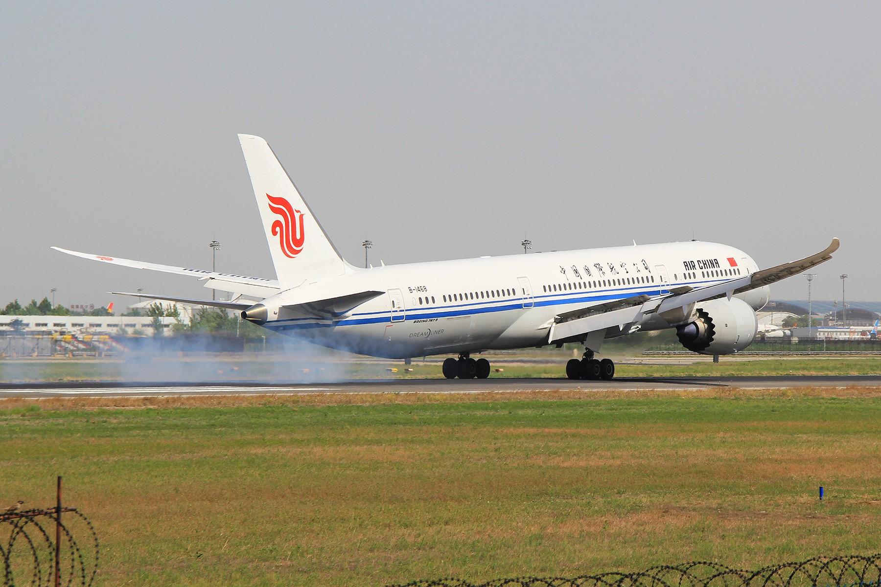 Re:[原创]【PEK】B787-9降落一组 BOEING 787-9 B-1468 中国北京首都国际机场
