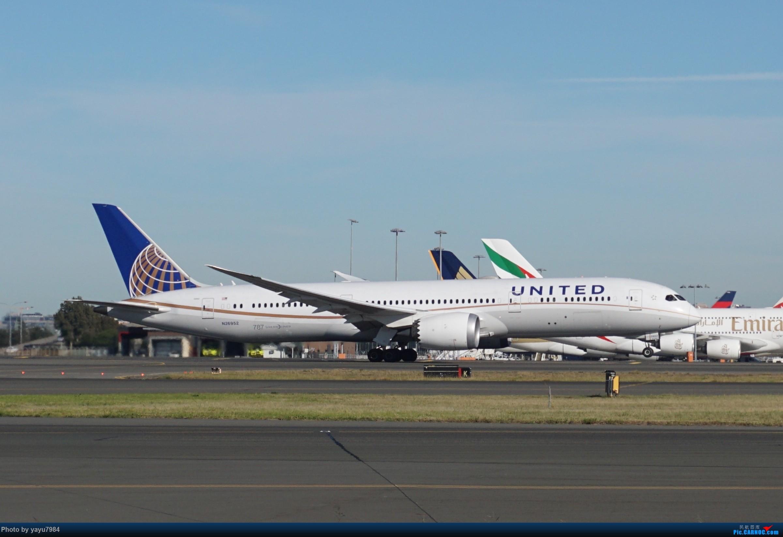 [SYD] 晨悉尼,Blu Emu停车场里拍34L起飞以及滑行 BOEING 787-9 N26952 澳大利亚悉尼金斯福德·史密斯机场