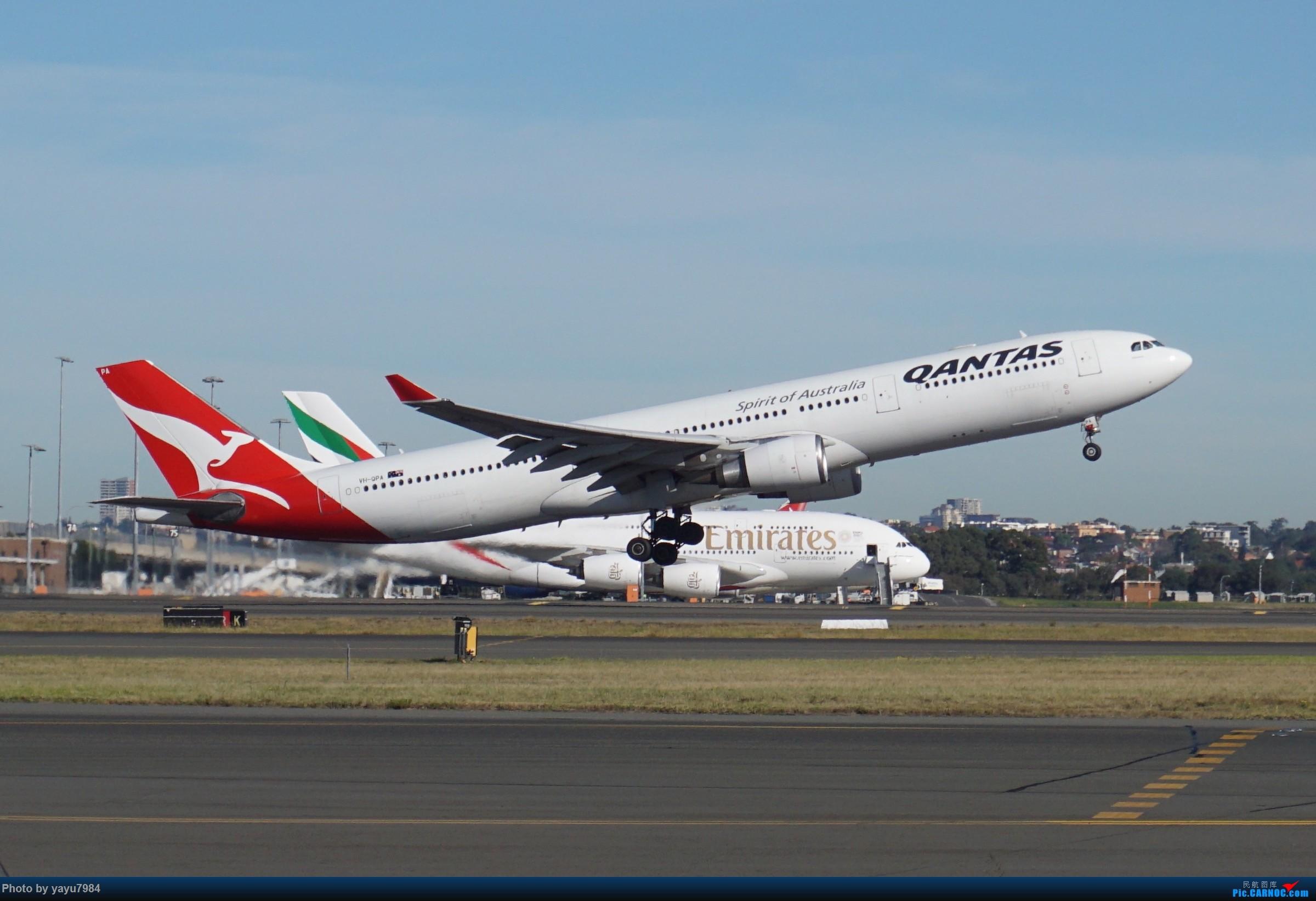 Re:[原创][SYD] 晨悉尼,Blu Emu停车场里拍34L起飞以及滑行 AIRBUS A330-300 VH-QPA 澳大利亚悉尼金斯福德·史密斯机场