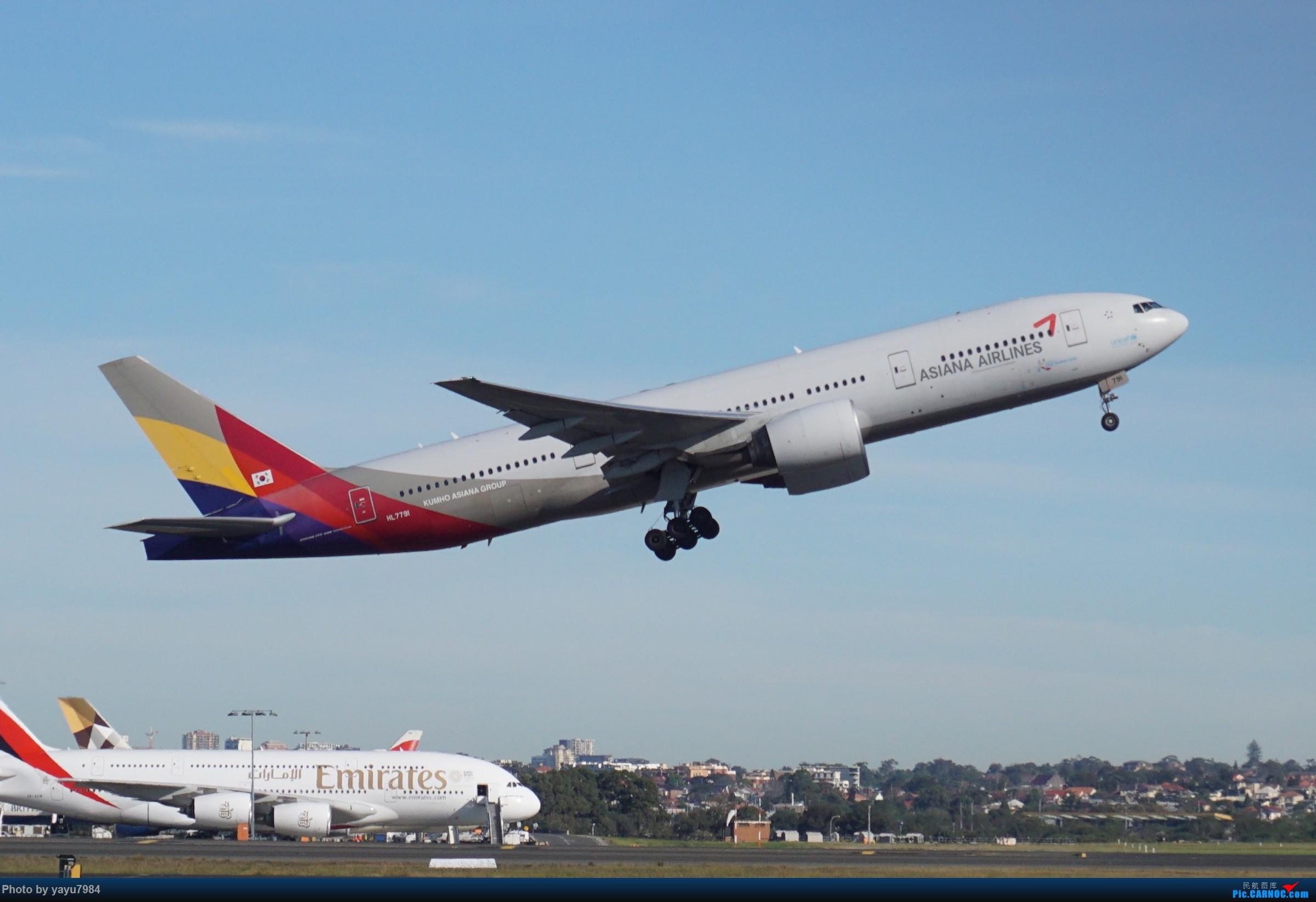 Re:[原创][SYD] 晨悉尼,Blu Emu停车场里拍34L起飞以及滑行 BOEING 777-200ER HL7791 澳大利亚悉尼金斯福德·史密斯机场