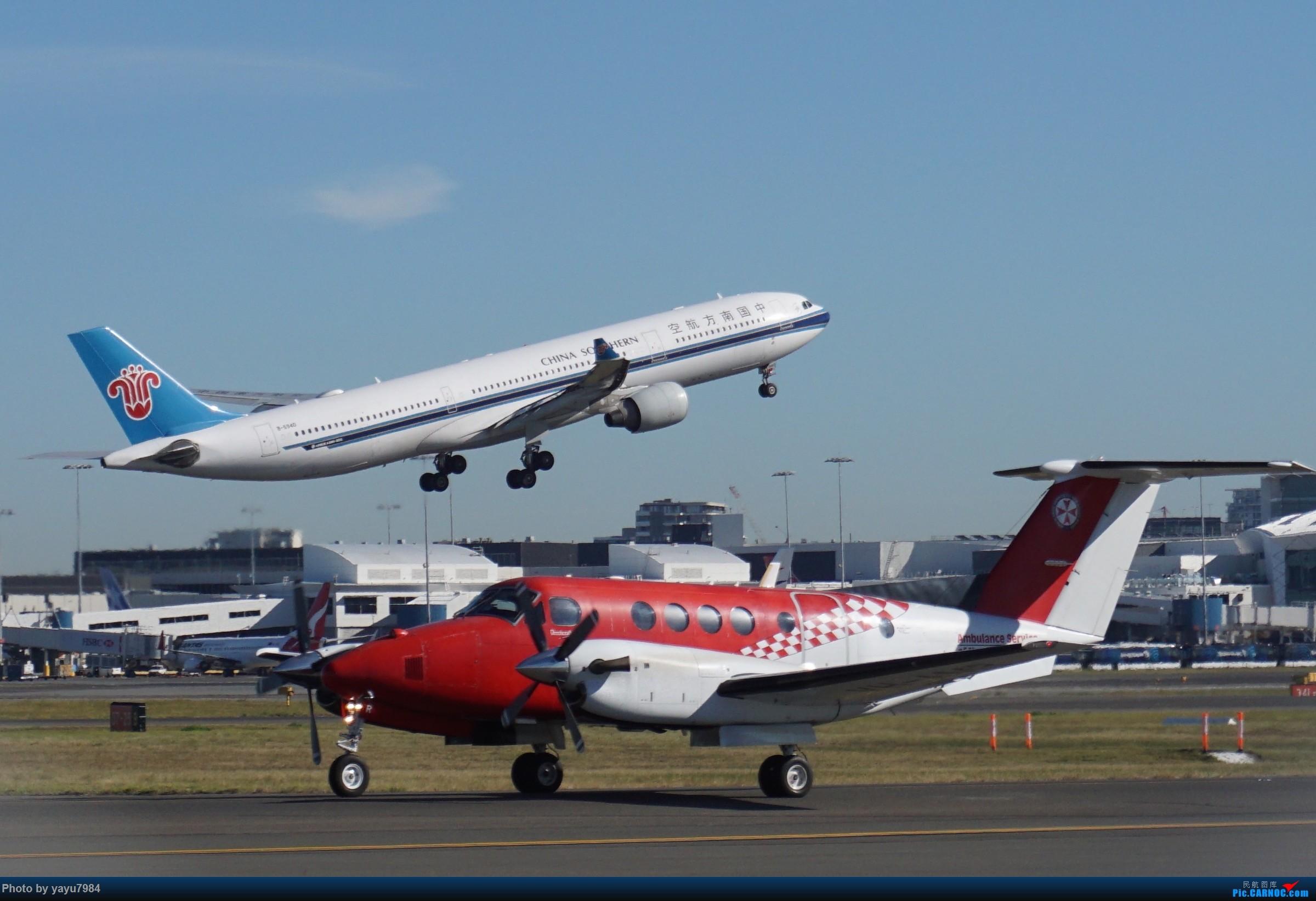 Re:[原创][SYD] 晨悉尼,Blu Emu停车场里拍34L起飞以及滑行 AIRBUS A330-300 B-5940 澳大利亚悉尼金斯福德·史密斯机场