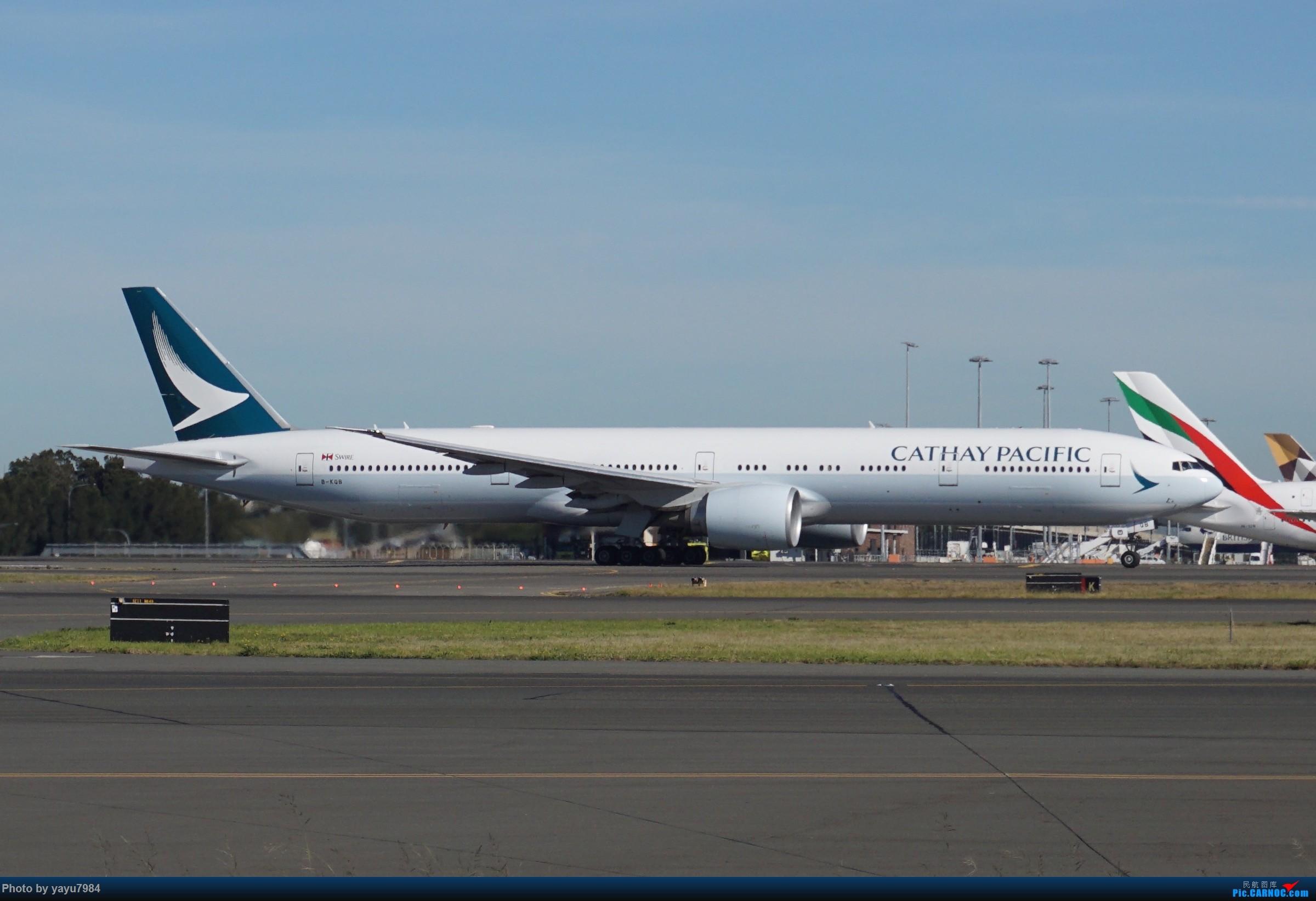 Re:[原创][SYD] 晨悉尼,Blu Emu停车场里拍34L起飞以及滑行 BOEING 777-300ER B-KQB 澳大利亚悉尼金斯福德·史密斯机场