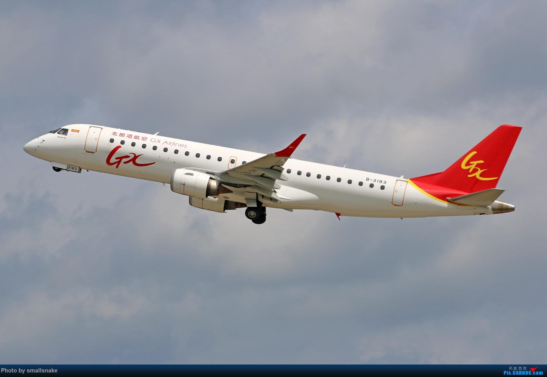 Re:[原创]近期NNG随摄...国航738MAX首航... EMBRAER E-190 B-3183 南宁吴圩国际机场