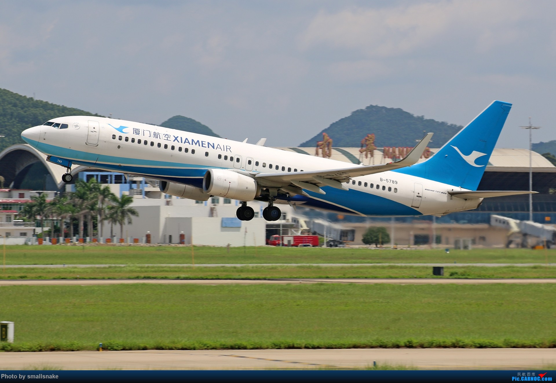 Re:[原创]近期NNG随摄...国航738MAX首航... BOEING 737-800 B-5789 中国南宁吴圩国际机场
