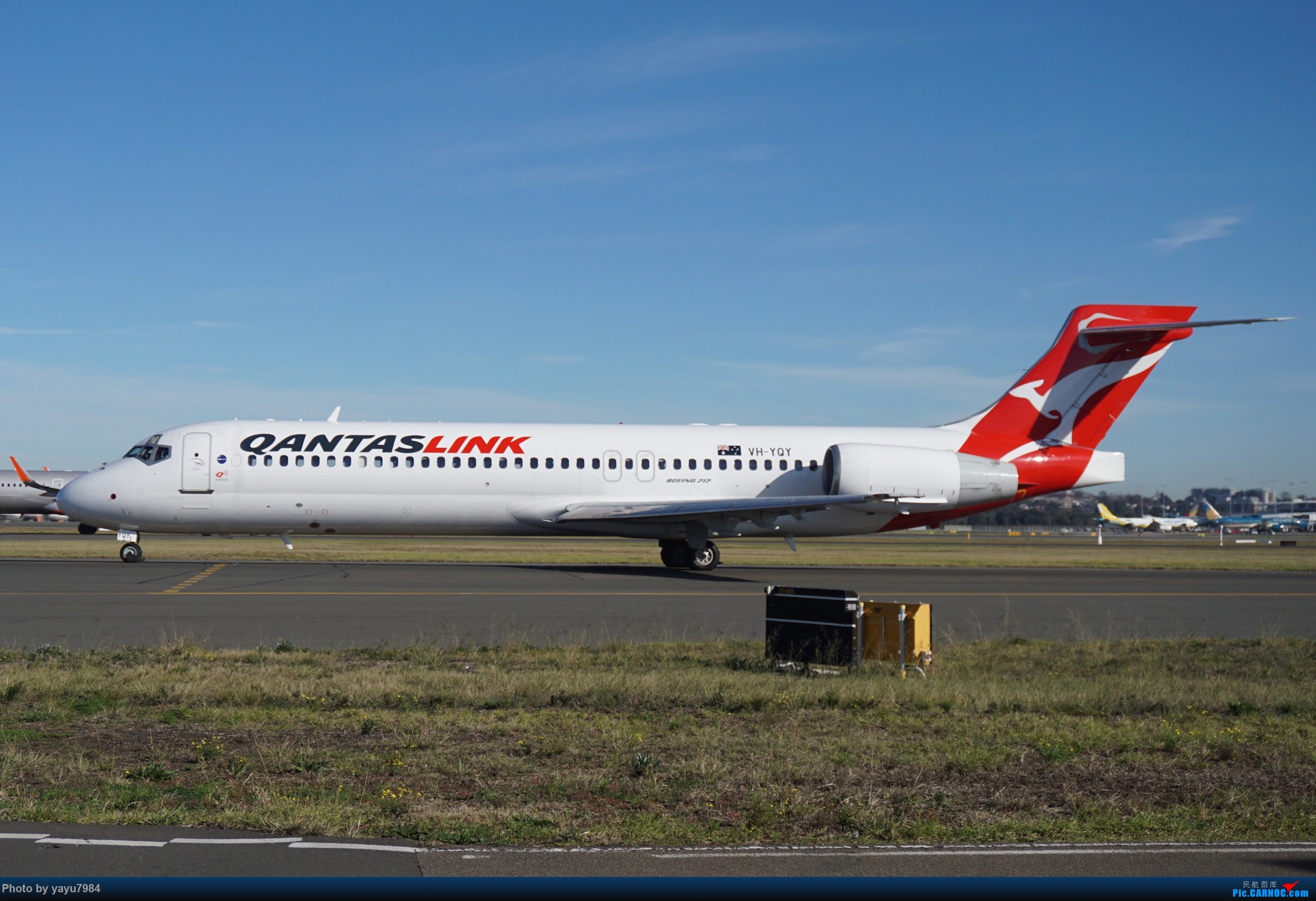 Re:[原创][SYD] 晨悉尼,Blu Emu停车场里拍34L起飞以及滑行 BOEING 717-200 VH-YQY 澳大利亚悉尼金斯福德·史密斯机场