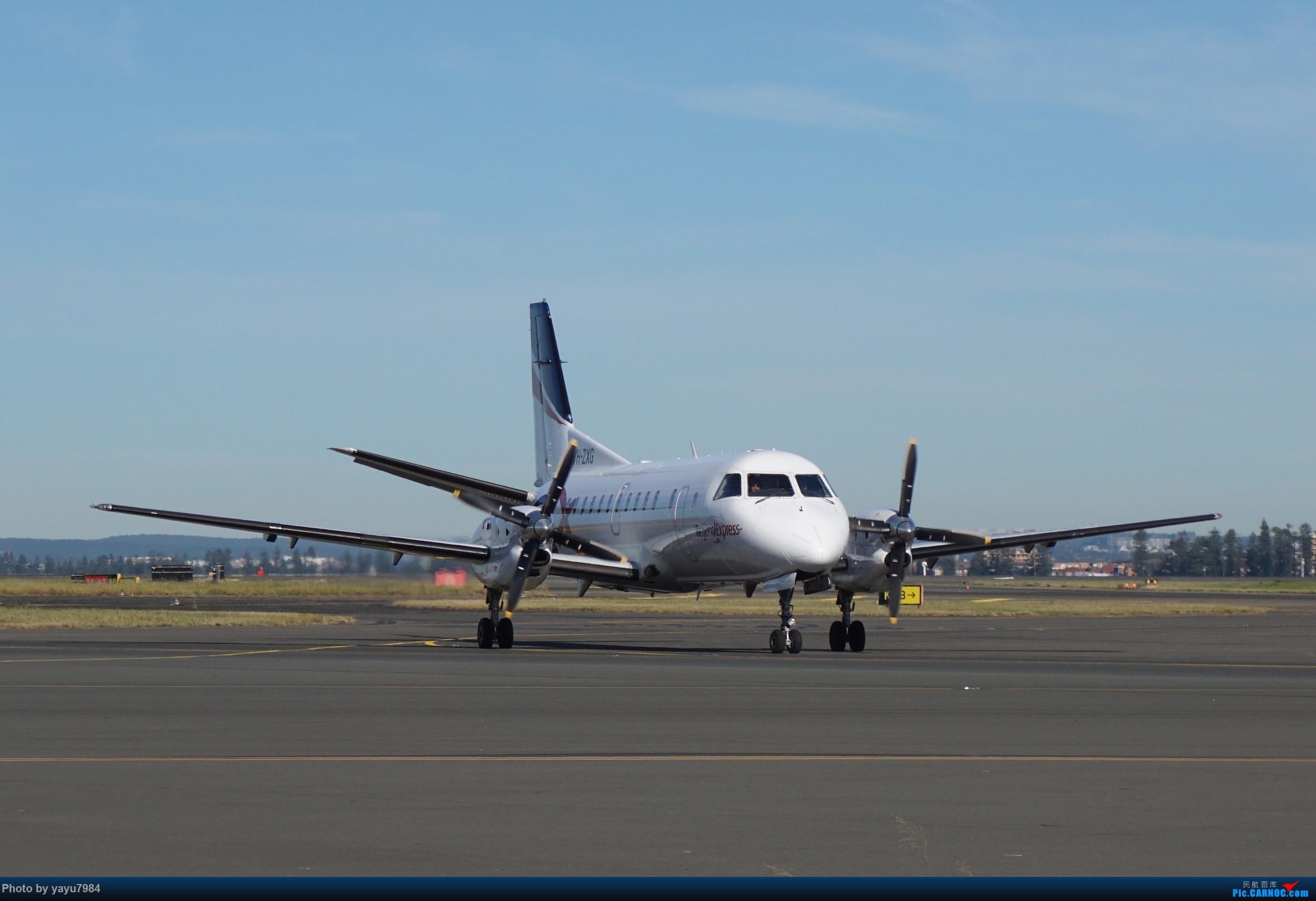 Re:[原创][SYD] 晨悉尼,Blu Emu停车场里拍34L起飞以及滑行 SAAB 340 VH-ZXG 澳大利亚悉尼金斯福德·史密斯机场