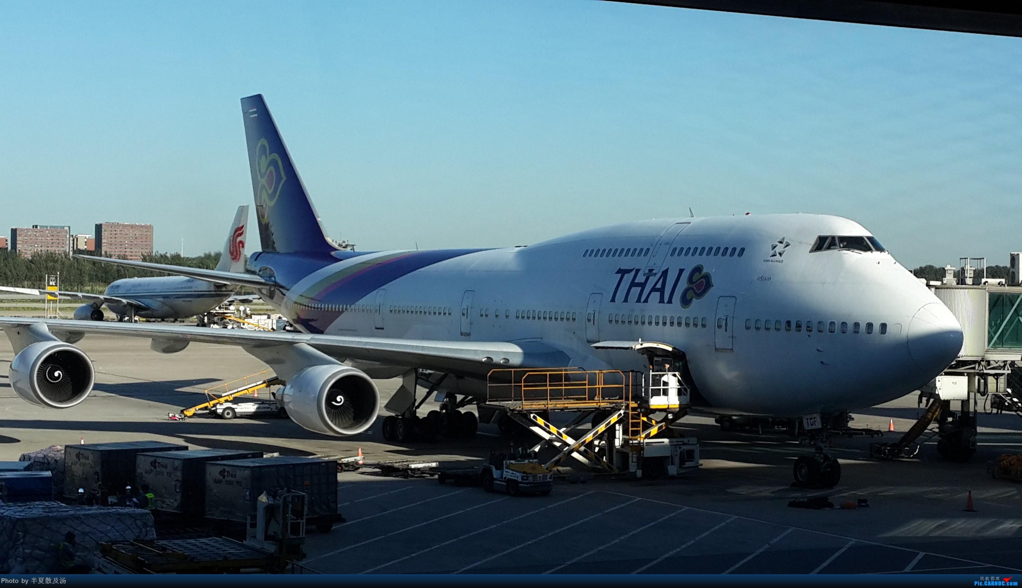 Re:[原创]A380主轮降温作业,道格拉斯抱轮车,747、330,多图 BOEING 747-400  中国北京首都国际机场