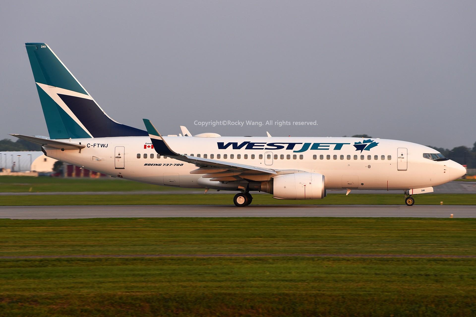 Re:[原创]窄体连连看 BOEING 737-7CT C-FTWJ 加拿大蒙特利尔特鲁多机场