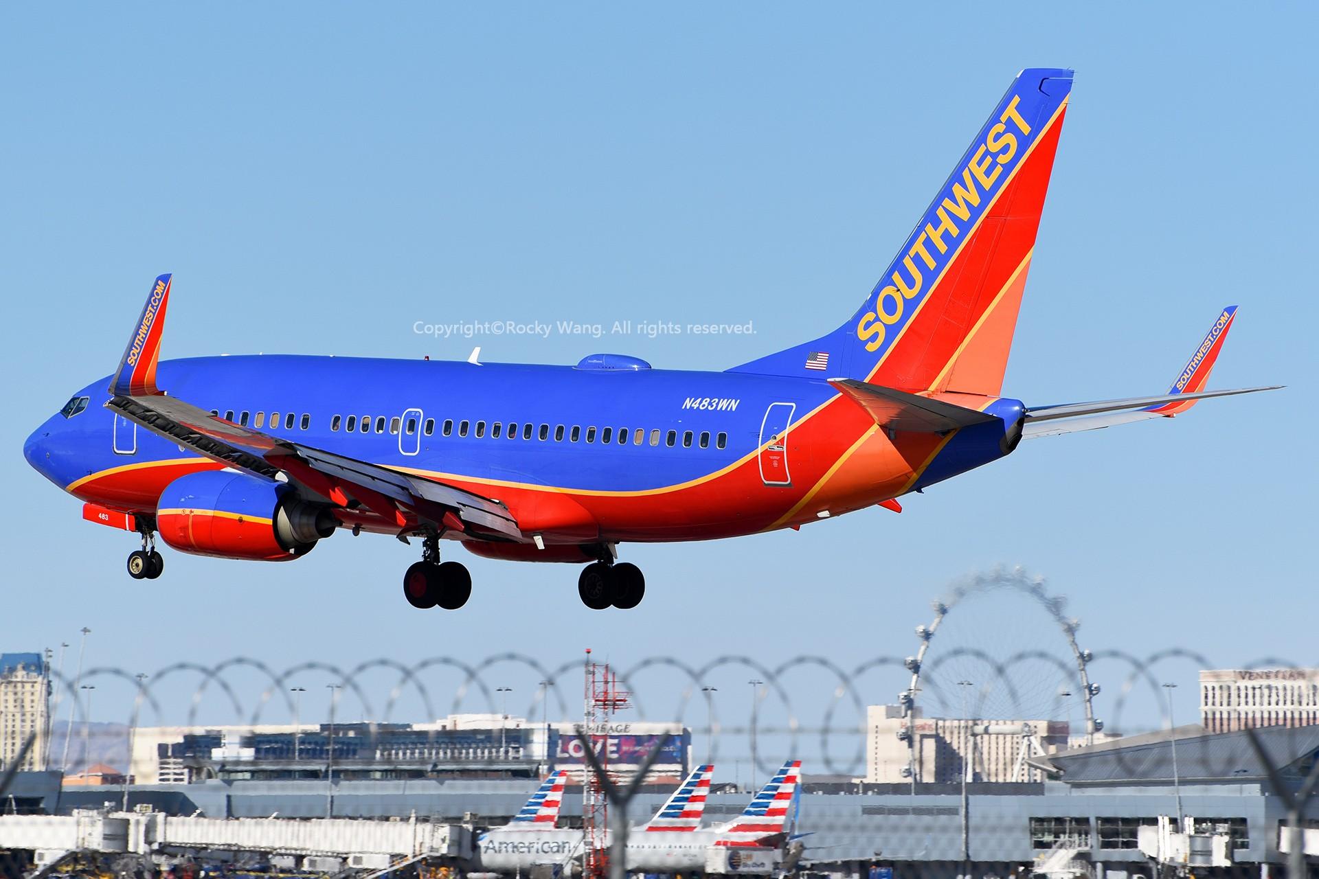 Re:[原创]窄体连连看 BOEING 737-7H4 N483WN 美国拉斯维加斯麦卡伦机场