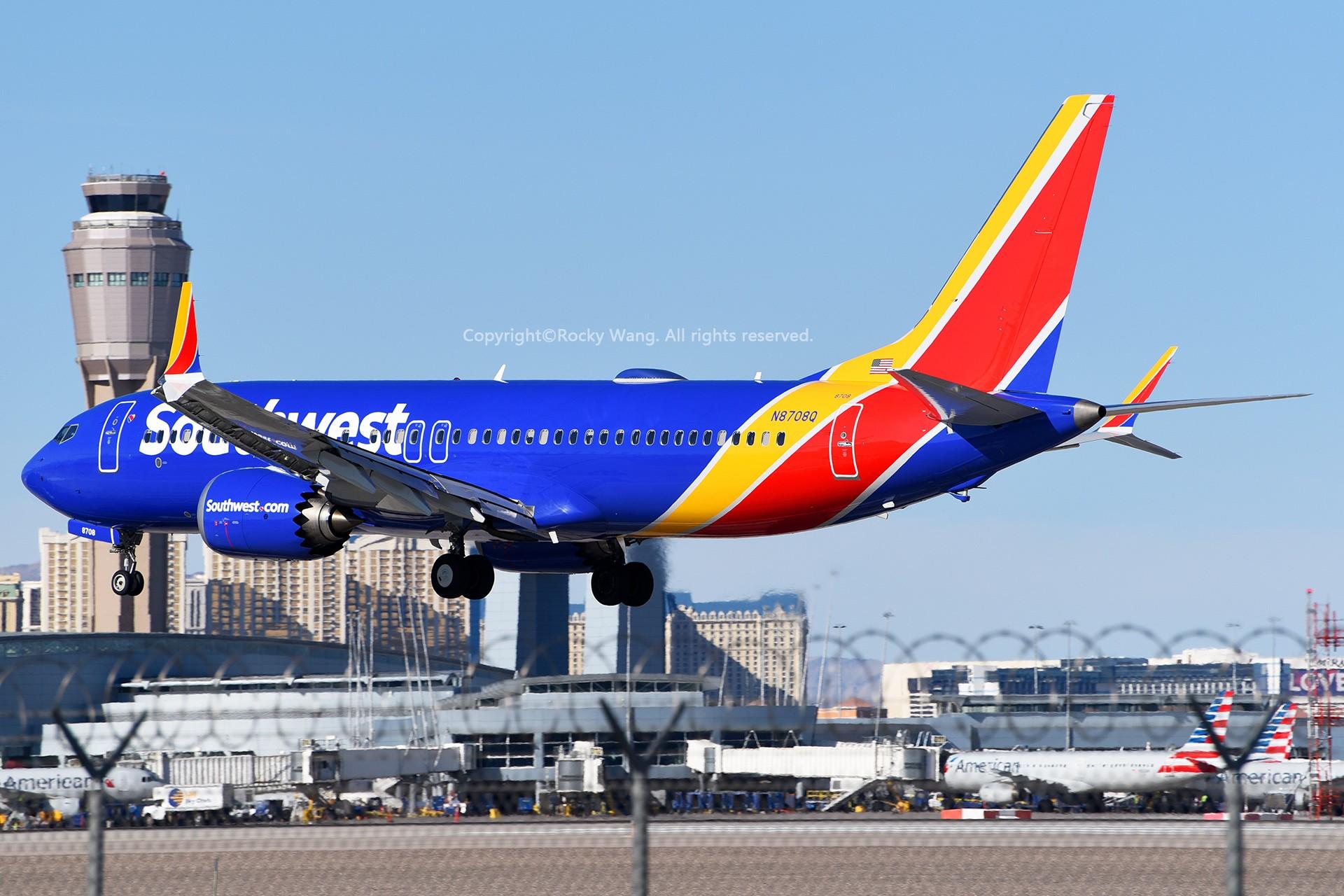 Re:[原创]窄体连连看 BOEING 737-8 MAX N8708Q 美国拉斯维加斯麦卡伦机场