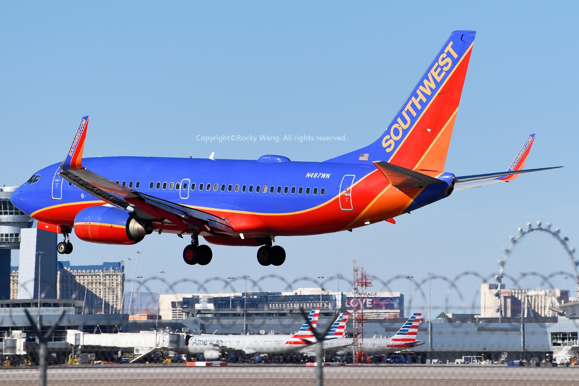 Re:[原创]窄体连连看 BOEING 737-7H4 N487WN 美国拉斯维加斯麦卡伦机场