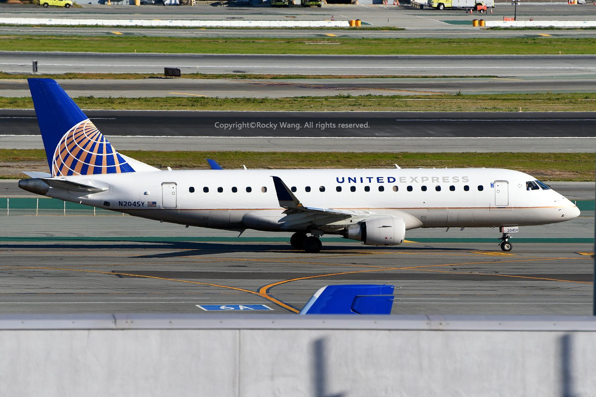 Re:[原创]窄体连连看 EMBRAER 170-200LR N204SY 美国旧金山机场