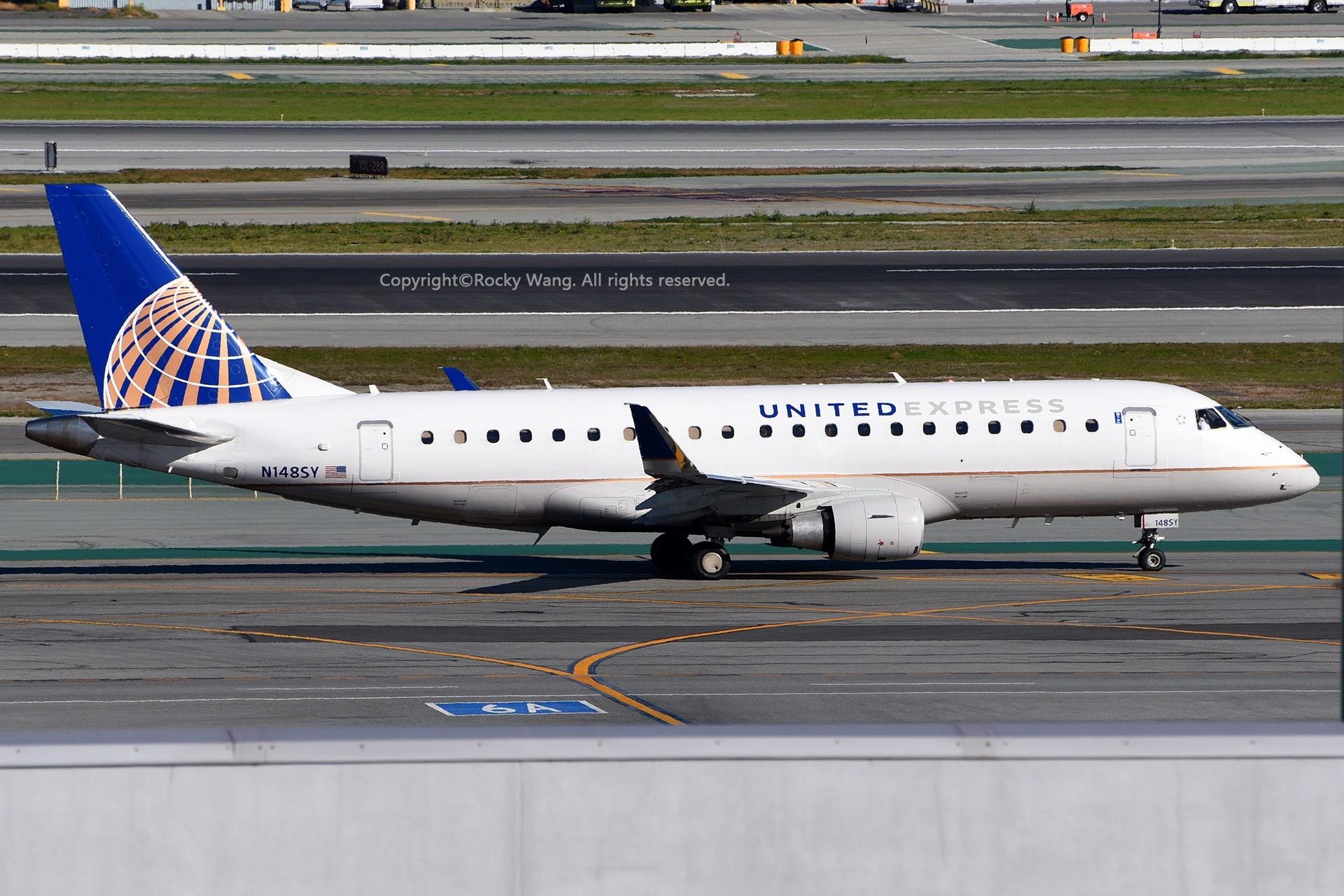 Re:[原创]窄体连连看 EMBRAER 170-200LR N148SY 美国旧金山机场