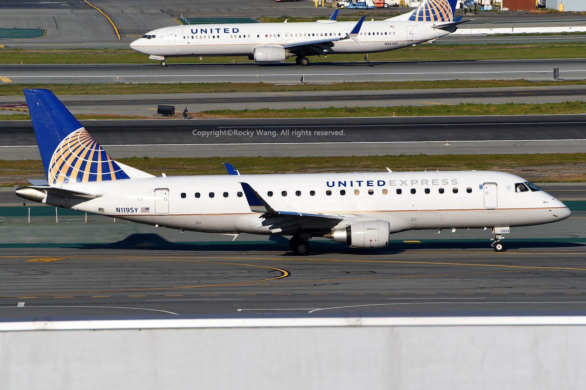 Re:[原创]窄体连连看 EMBRAER 170-200LR N119SY 美国旧金山机场