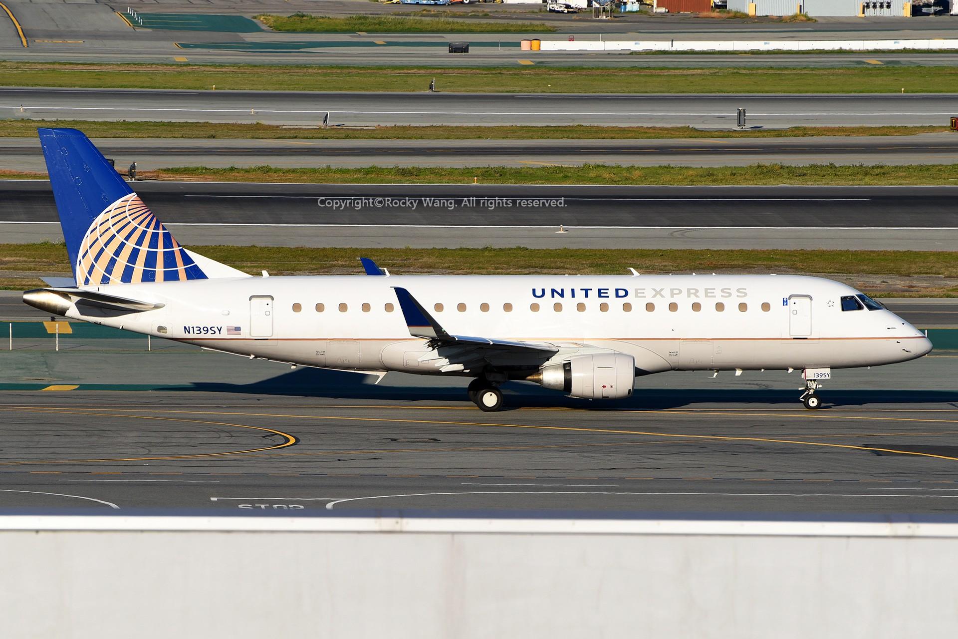 Re:[原创]窄体连连看 EMBRAER 170-200LR N139SY 美国旧金山机场