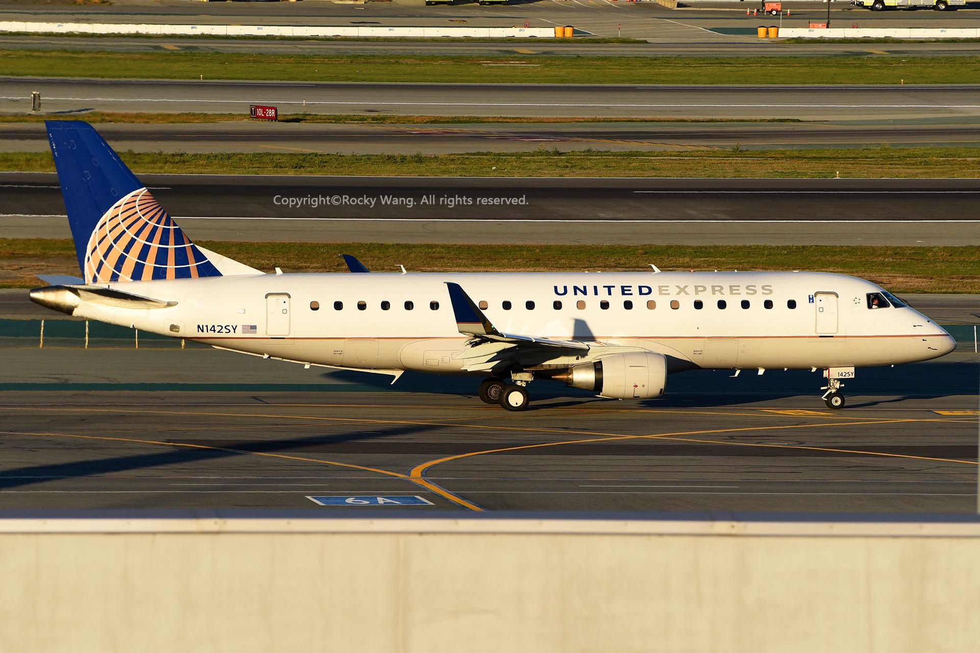 Re:[原创]窄体连连看 EMBRAER 170-200LR N142SY 美国旧金山机场