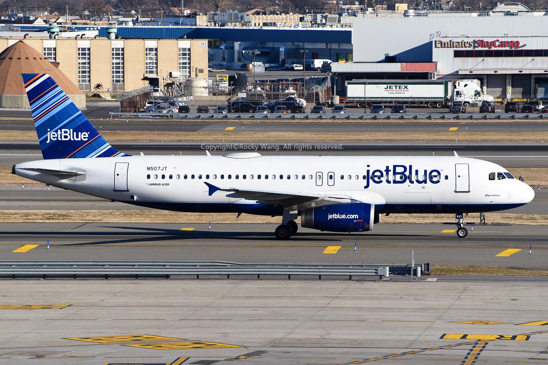 Re:[原创]窄体连连看 AIRBUS A320-232 N507JT 美国纽约约翰·菲茨杰拉德·肯尼迪国际机场