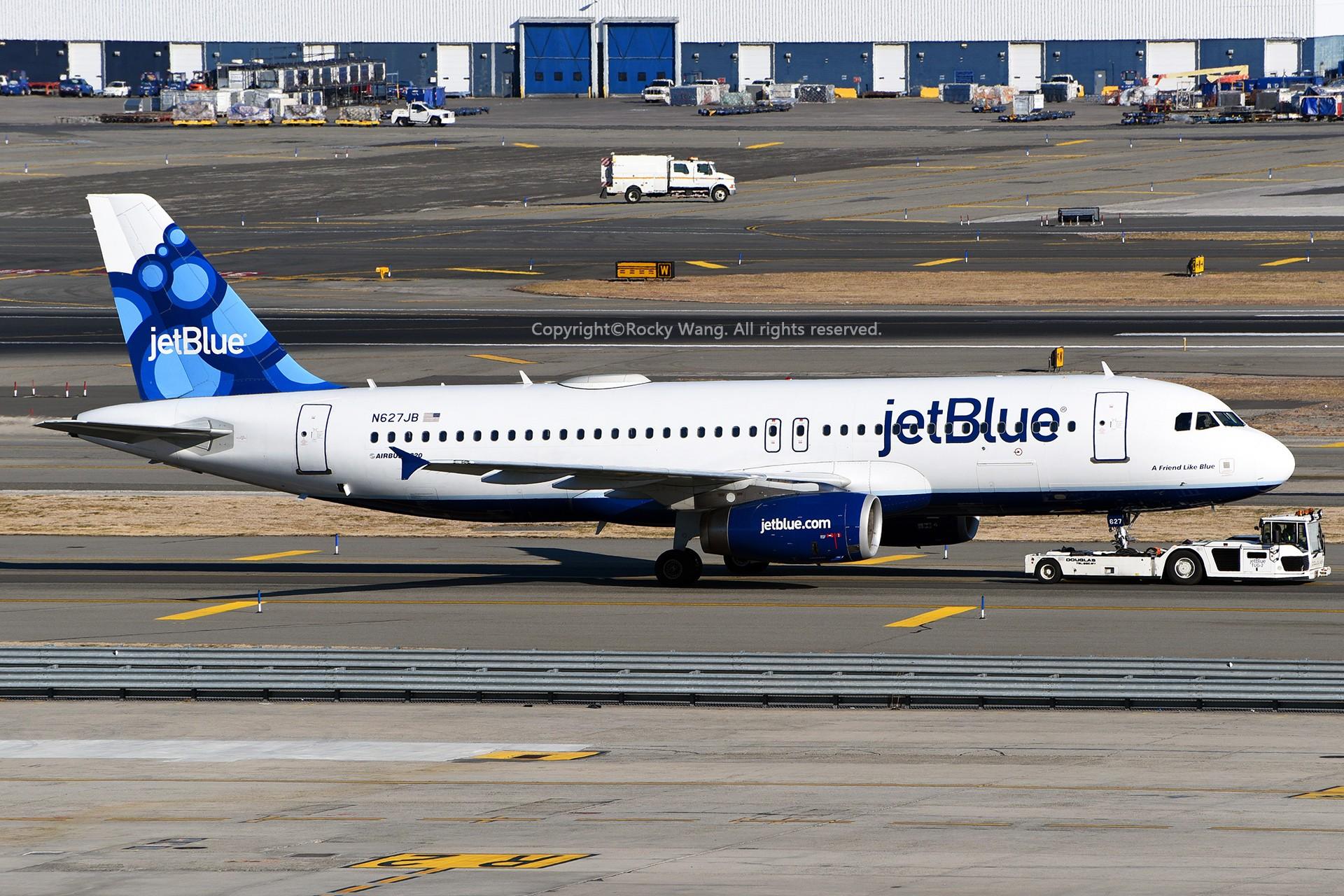Re:[原创]窄体连连看 AIRBUS A320-232 N627JB 美国纽约约翰·菲茨杰拉德·肯尼迪国际机场