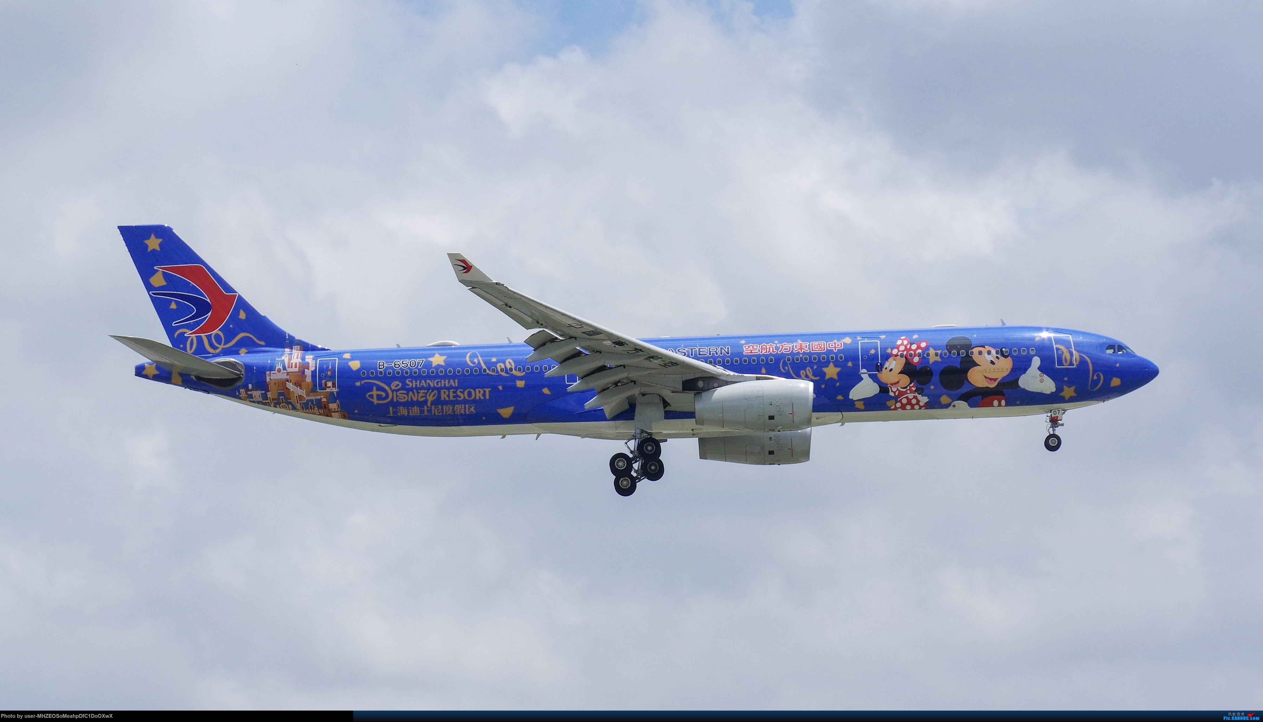 [原创]【SHA】东航米老鼠 A330-300 B-6507 AIRBUS A330-300 B-6507 中国上海虹桥国际机场
