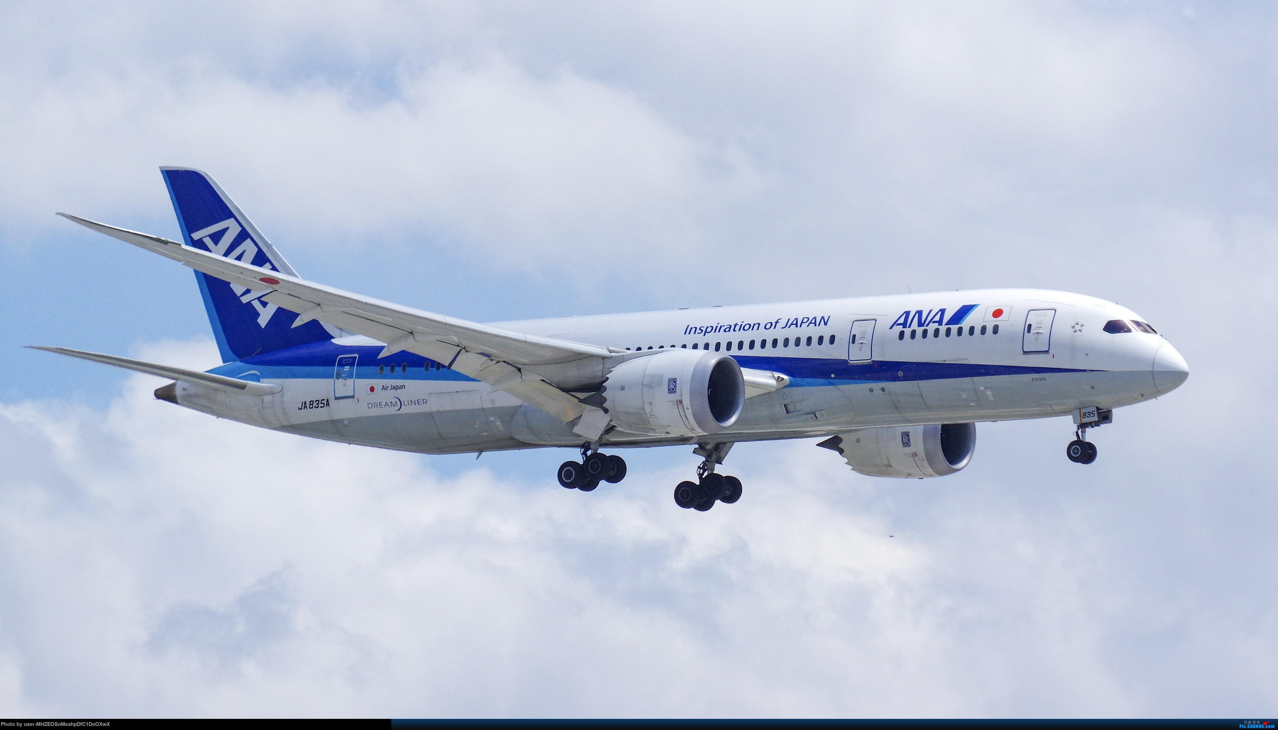 [原创]【SHA】ANA B787-8 JA835A BOEING 787-8 JA835A 中国上海虹桥国际机场