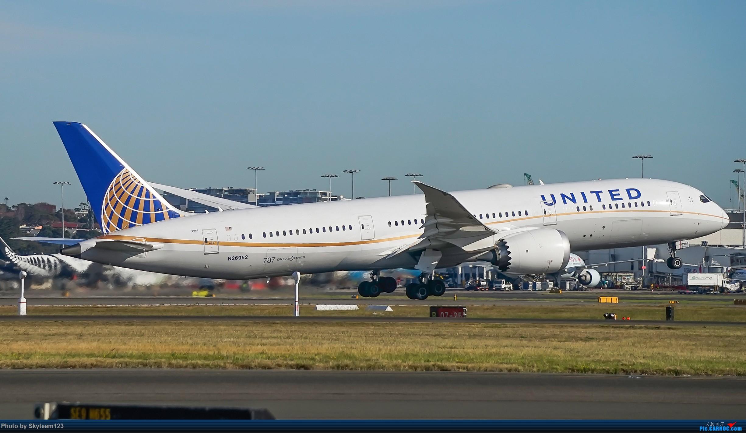 Re:[原创]【SYD】Blu EMU 停车场拍34L宽体起飞落地 BOEING 787-9 N26952 澳大利亚悉尼金斯福德·史密斯机场