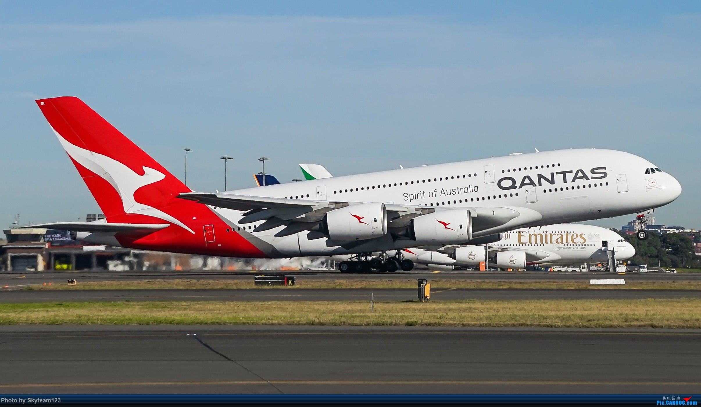 Re:[原创]【SYD】Blu EMU 停车场拍34L宽体起飞落地 AIRBUS A380-800 VH-OQL 澳大利亚悉尼金斯福德·史密斯机场