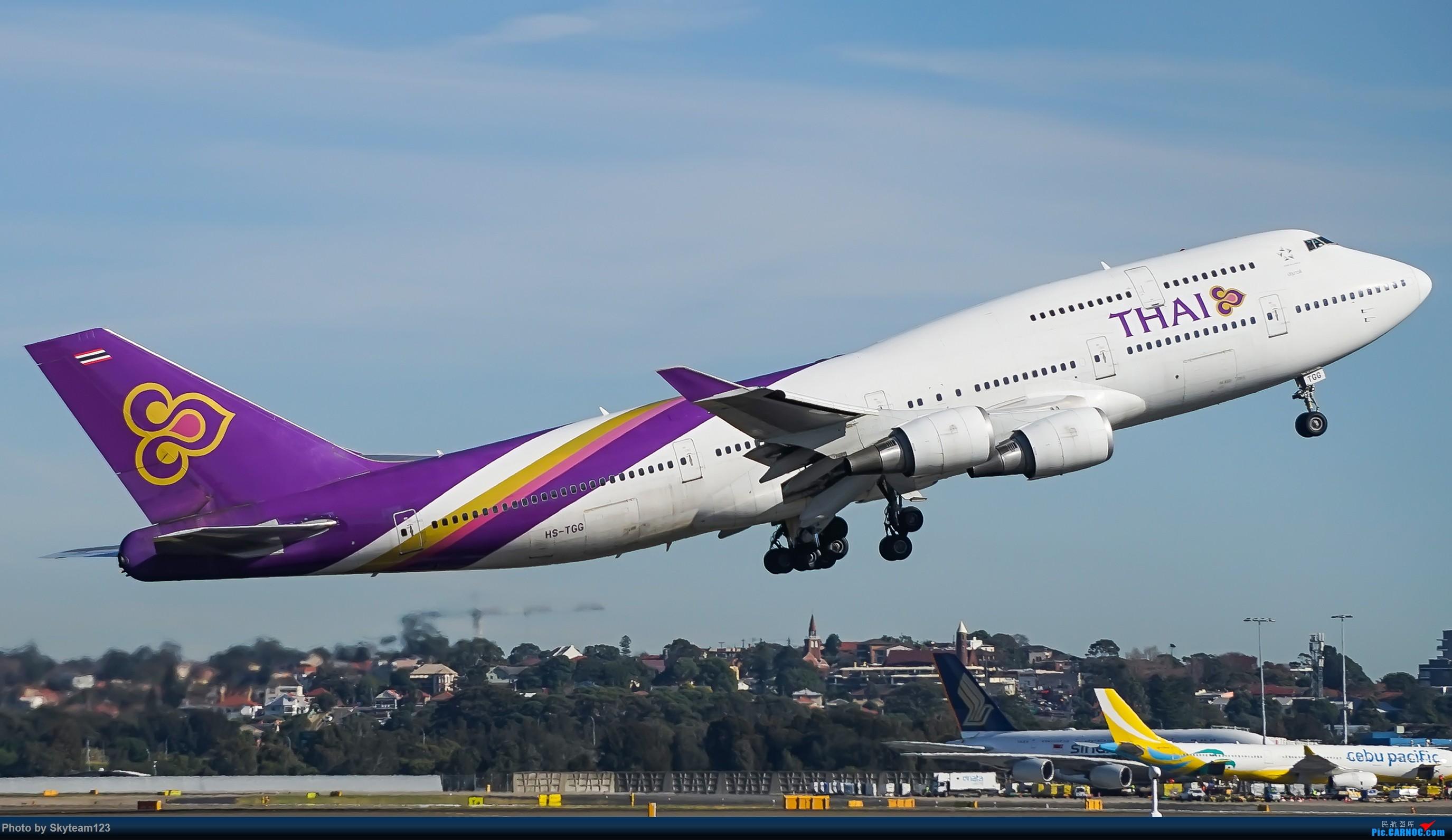 Re:[原创]【SYD】Blu EMU 停车场拍34L宽体起飞落地 BOEING 747-400 HS-TGG 澳大利亚悉尼金斯福德·史密斯机场