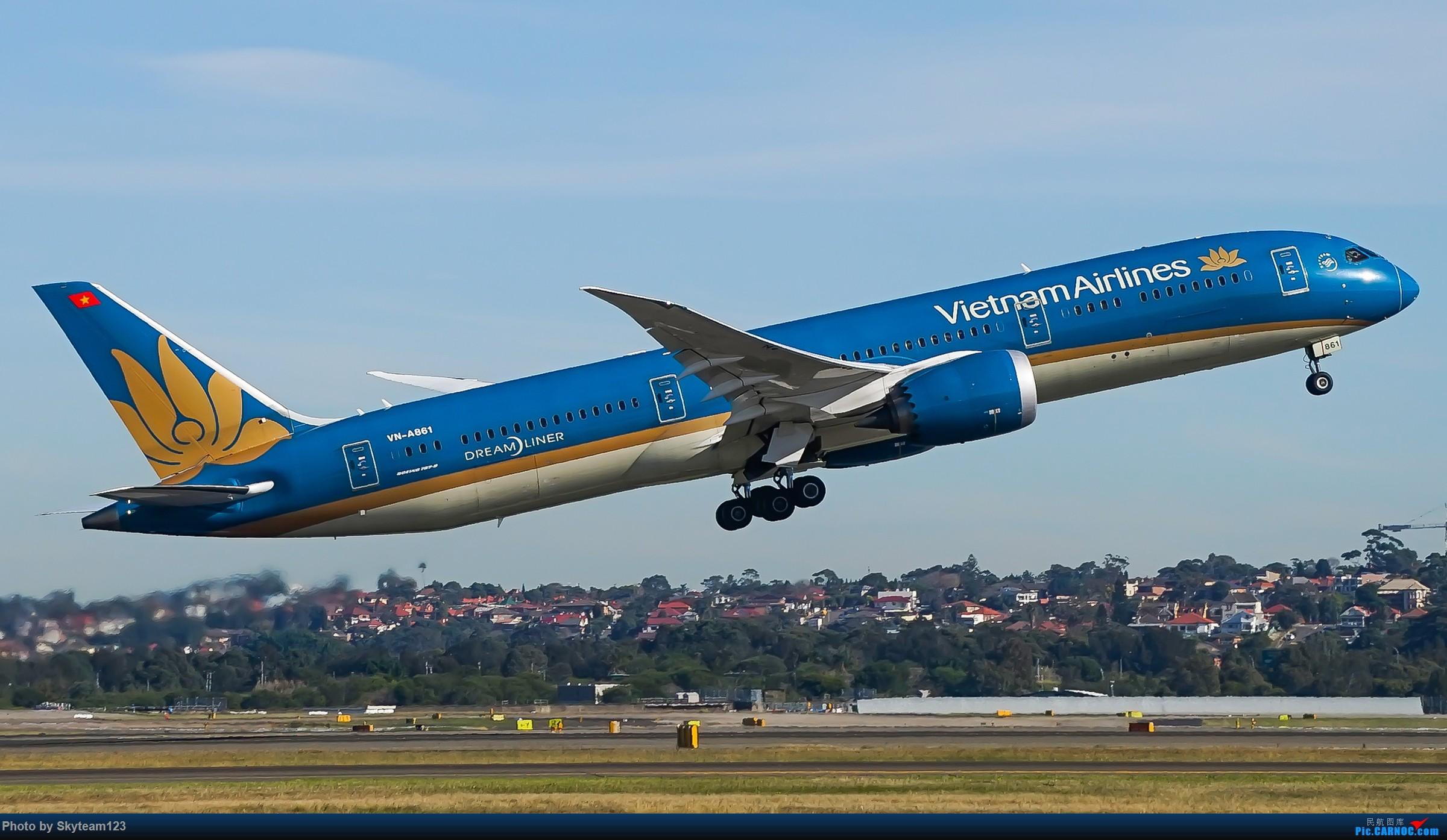 Re:[原创]【SYD】Blu EMU 停车场拍34L宽体起飞落地 BOEING 787-9 VN-A861 澳大利亚悉尼金斯福德·史密斯机场