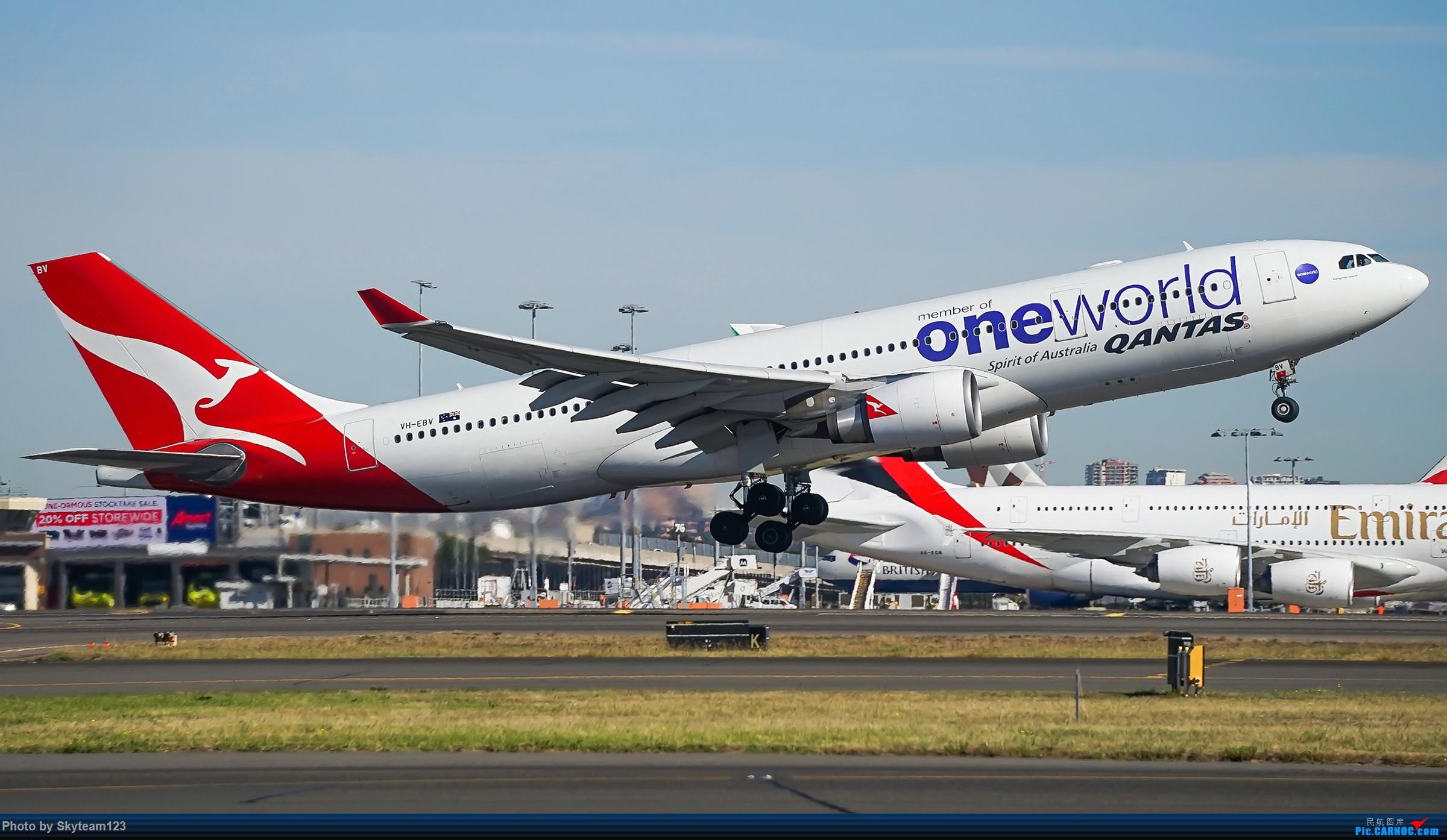 Re:[原创]【SYD】Blu EMU 停车场拍34L宽体起飞落地 AIRBUS A330-200 VH-EBV 澳大利亚悉尼金斯福德·史密斯机场