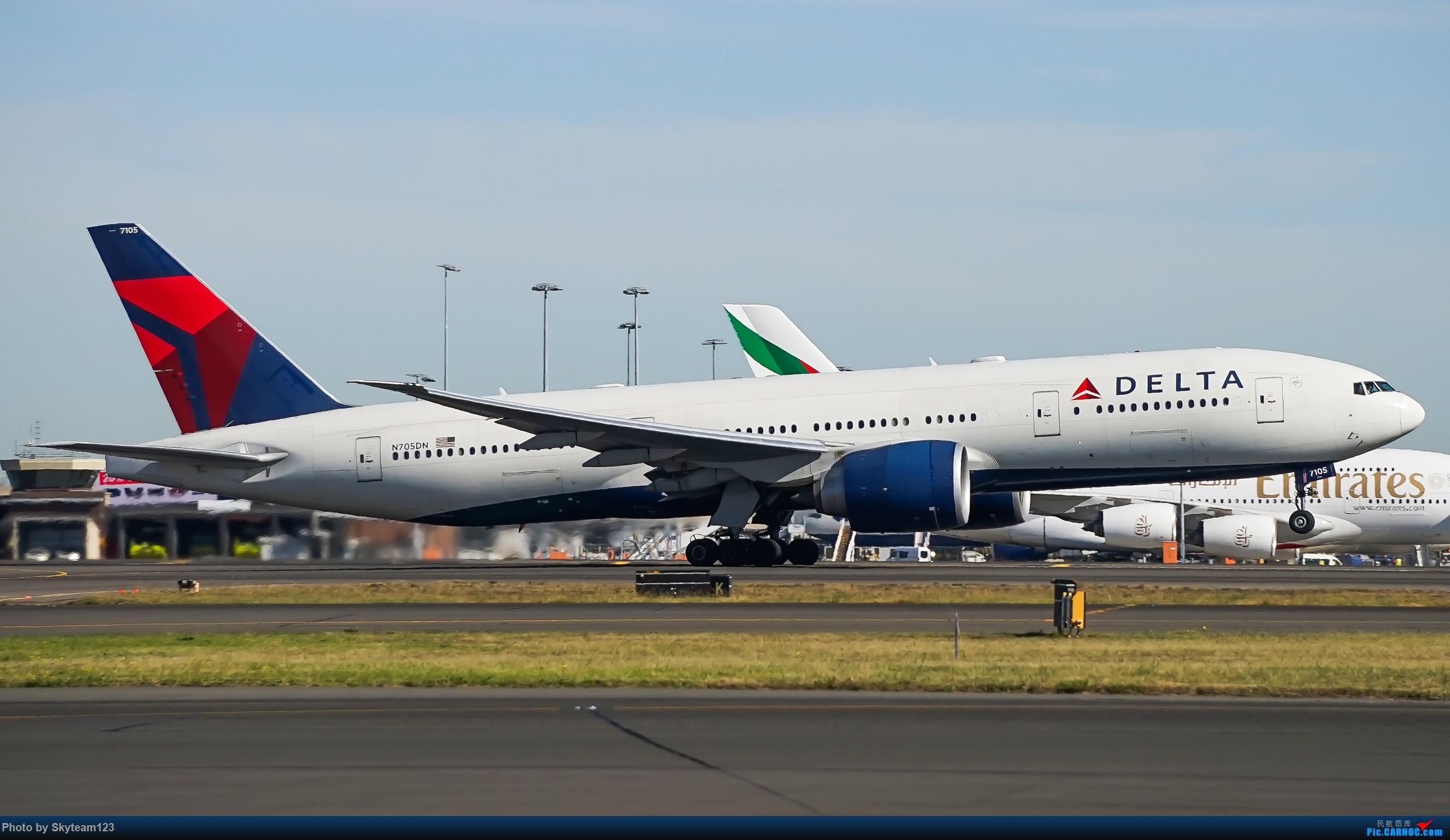 Re:[原创]【SYD】Blu EMU 停车场拍34L宽体起飞落地 BOEING 777-200LR N705DN 澳大利亚悉尼金斯福德·史密斯机场