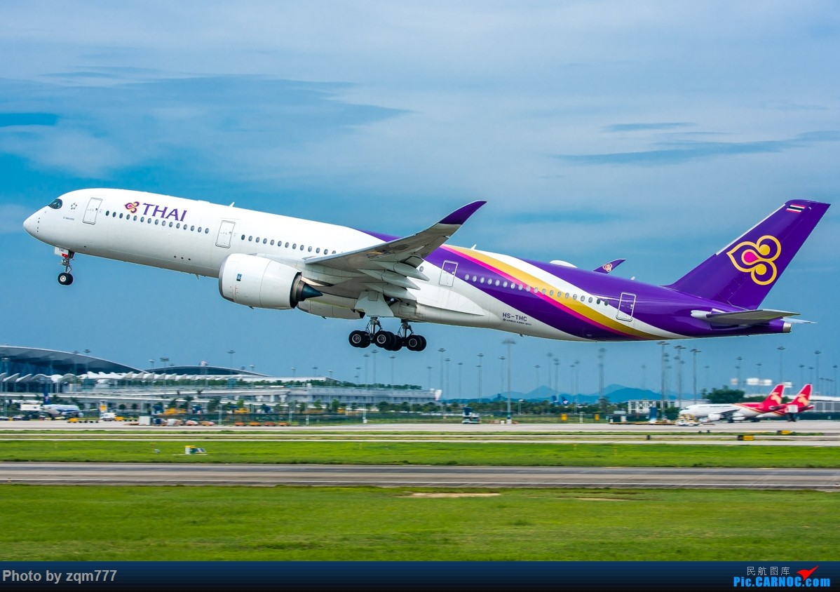 Re:[原创]CAN 泰航359起飞图一组,泰美丽了 A350-900 HS-THB 广州白云国际机场