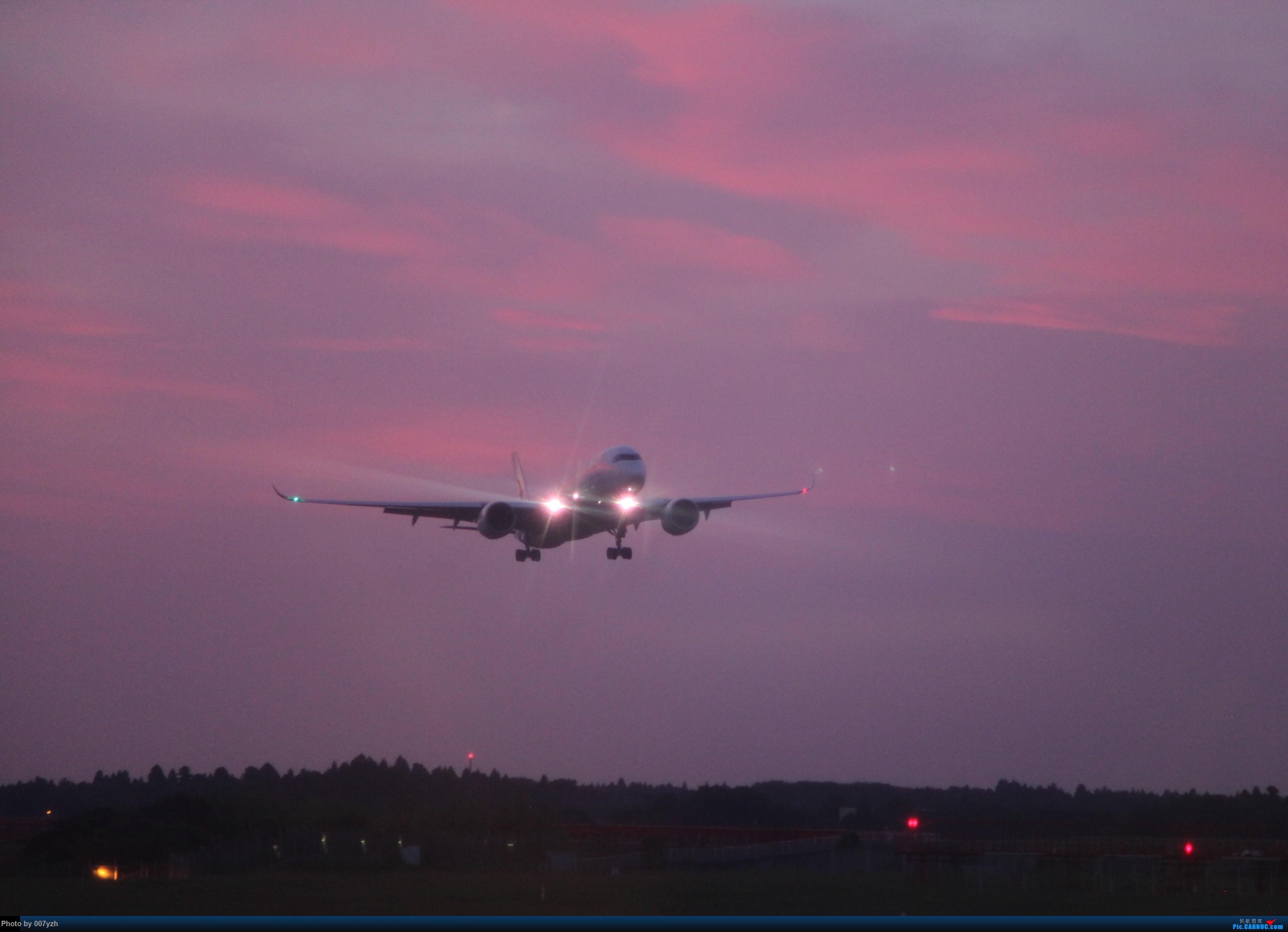[原创]NAR的日落 AIRBUS A350-900  东京成田国际机场