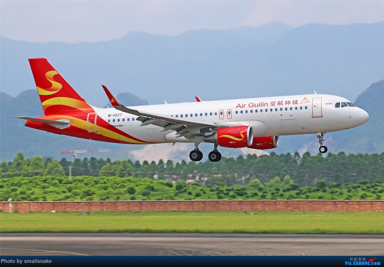 Re:[原创][原创]桂林机场拍机...金鹏787最后时光+南航77F训练... AIRBUS A320-200 B-1037 桂林两江国际机场