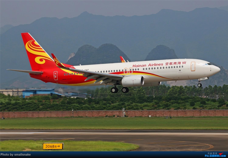 Re:[原创][原创]桂林机场拍机...金鹏787最后时光+南航77F训练... BOEING 737-800 B-1347 桂林两江国际机场