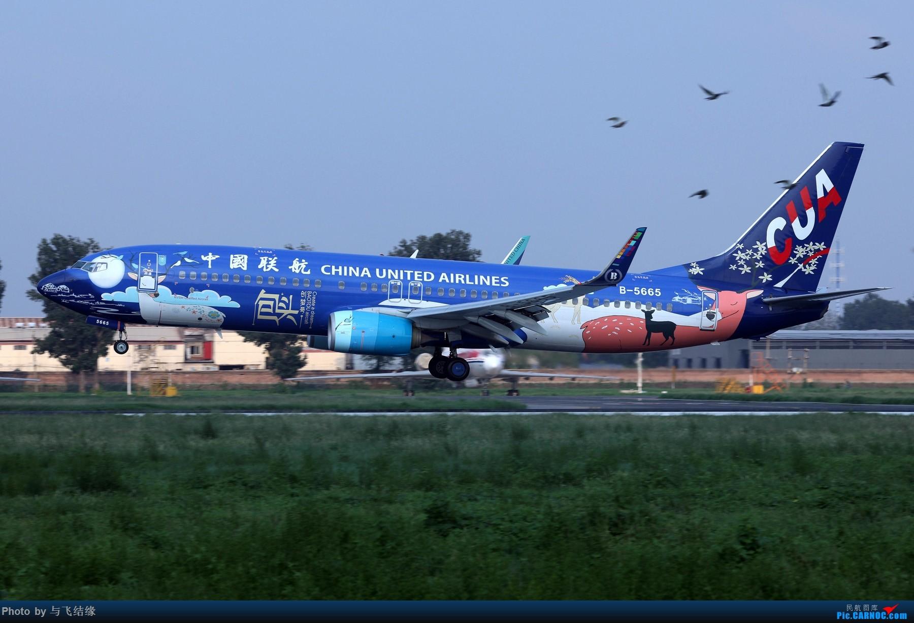 Re:要问彩绘哪家强,中国北京找联航。 BOEING 737-800 B-5665 中国北京南苑机场