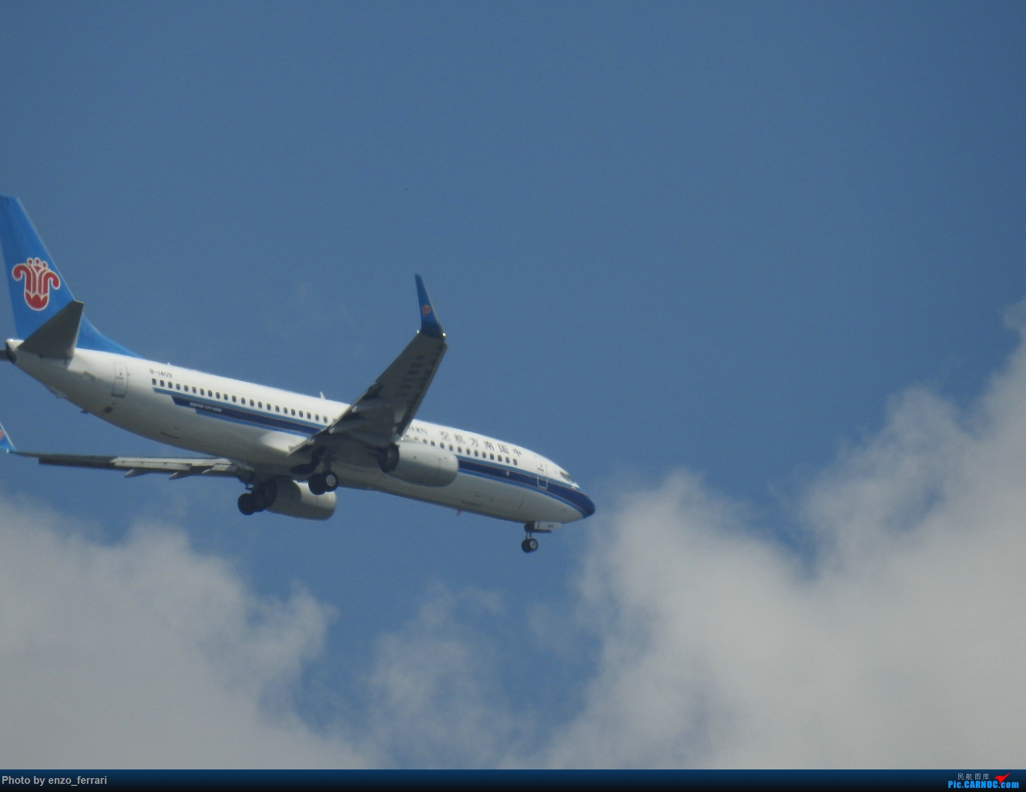 Re:[原创]【KWE】贵阳3000英尺拍飞机进近 BOEING 737-800 B-1409 中国贵阳龙洞堡国际机场