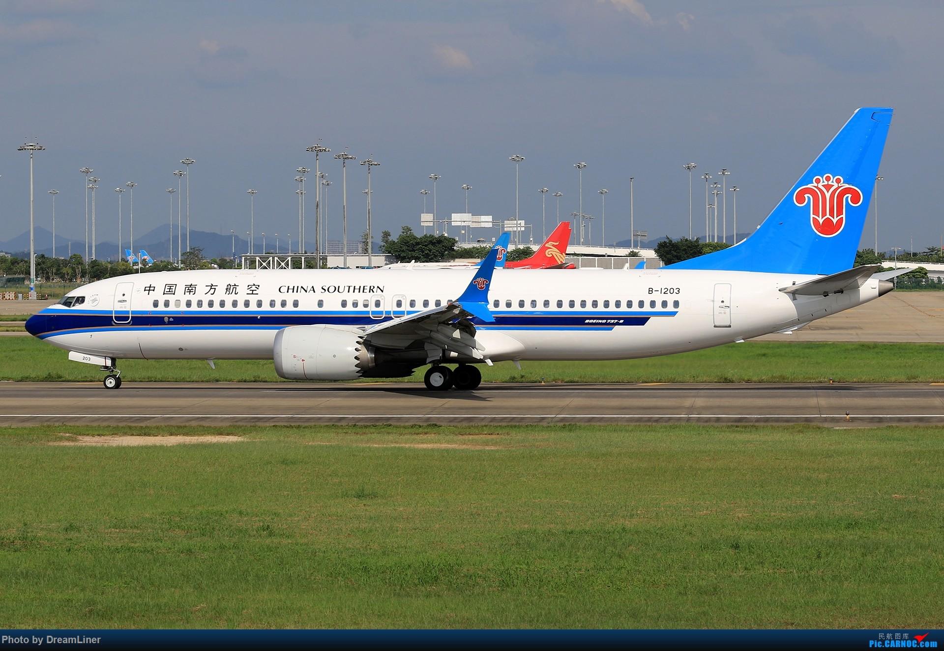 Re:[原创]【CAN】(7.17)发点小家伙 BOEING 737MAX-8 B-1203 中国广州白云国际机场