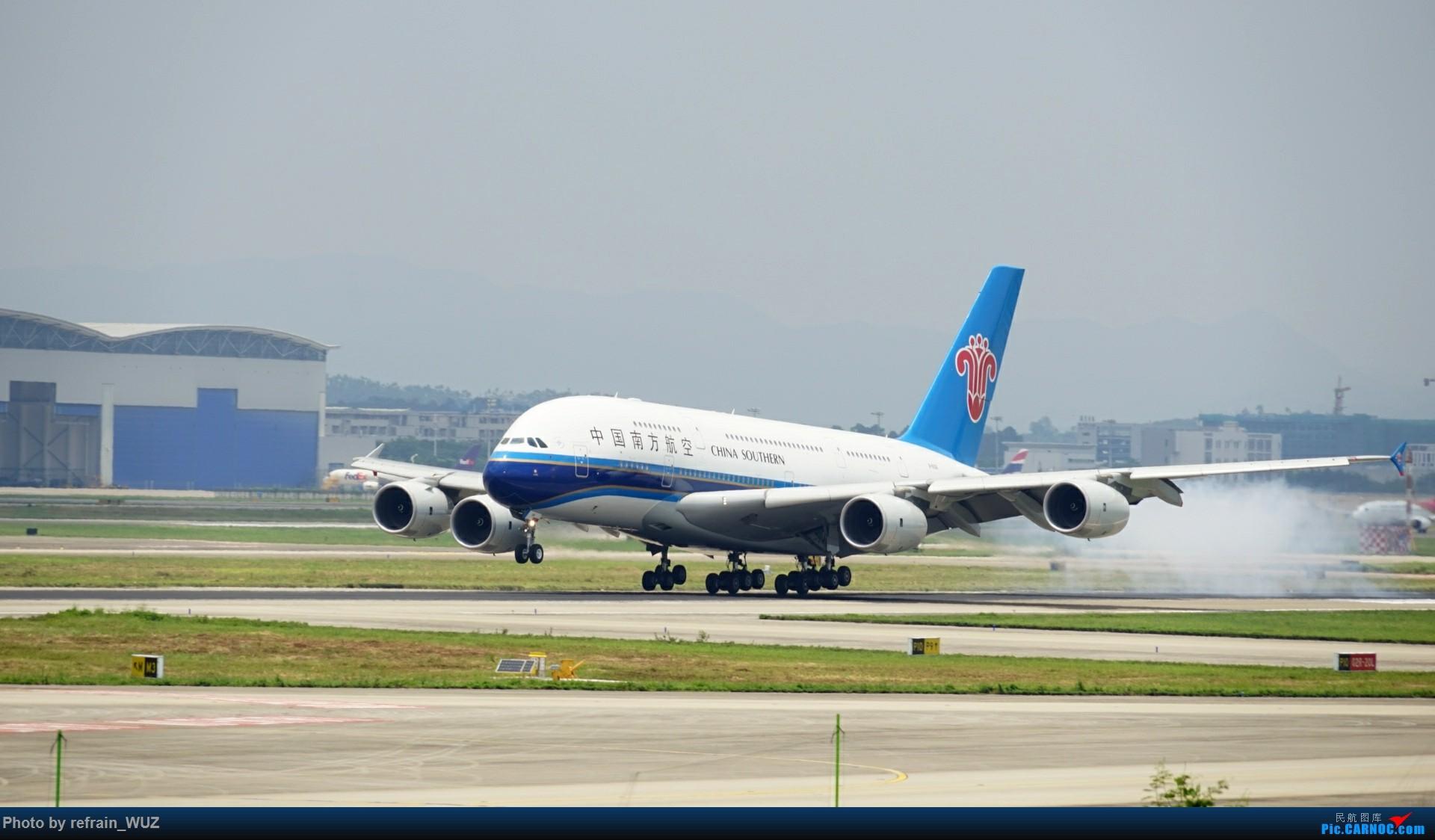 [原创]CAN广州白云打机,全部系大嘢,又长,又粗,震撼! AIRBUS A380 B-6136 中国广州白云国际机场