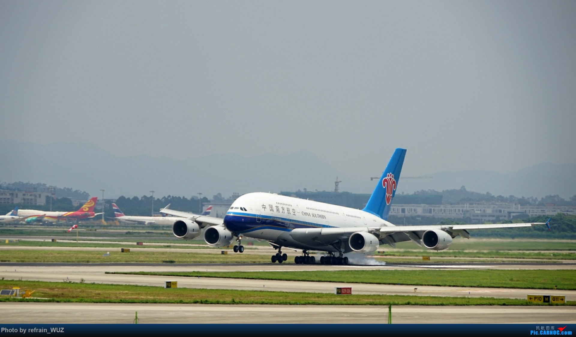 Re:[原创]CAN白云打机,全部系大嘢,最长的最粗的都有了! AIRBUS A380 B-6136 中国广州白云国际机场