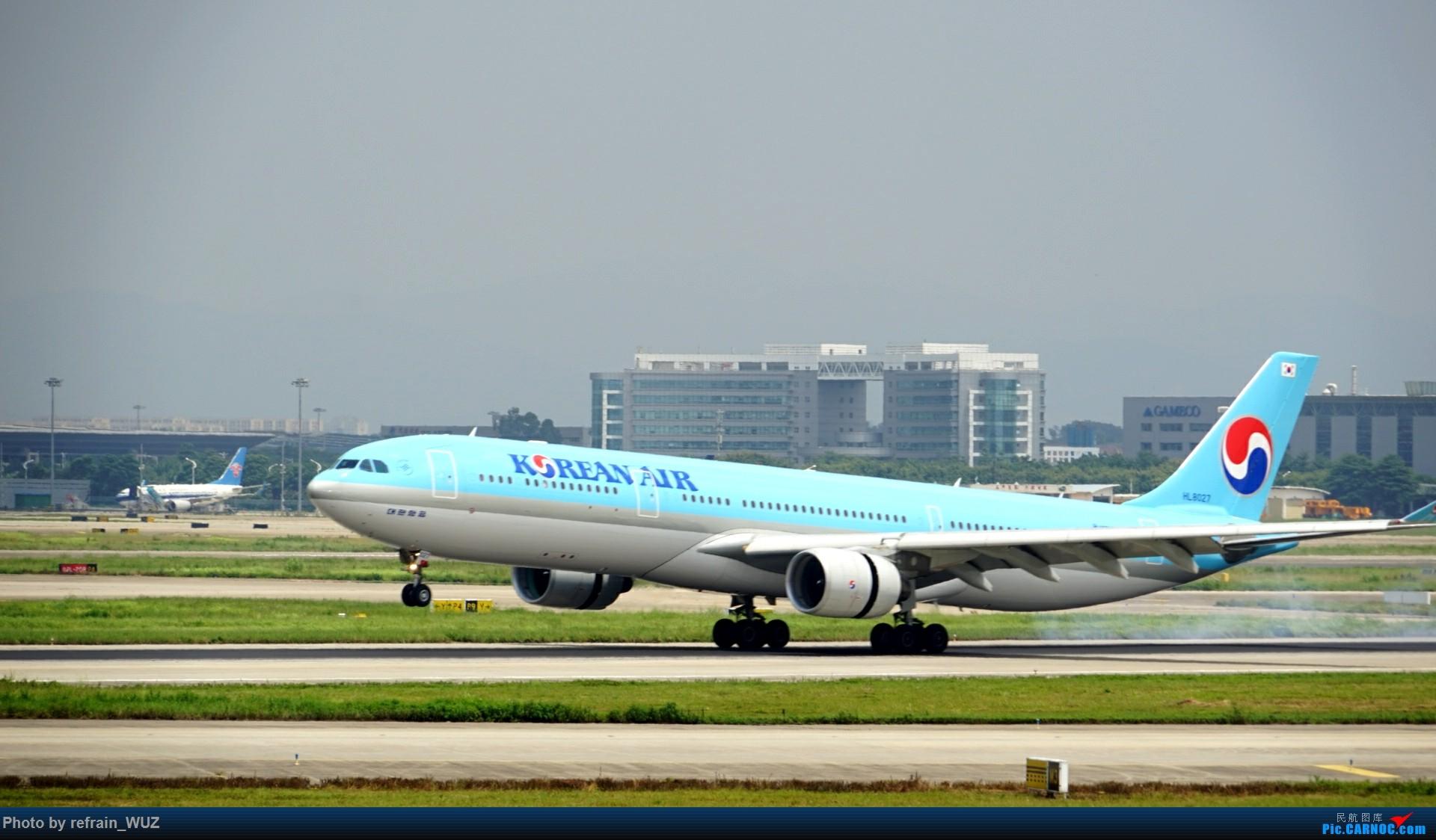 Re:[原创]CAN白云打机,全部系大嘢,最长的最粗的都有了! AIRBUS A330-300 HL8027 中国广州白云国际机场