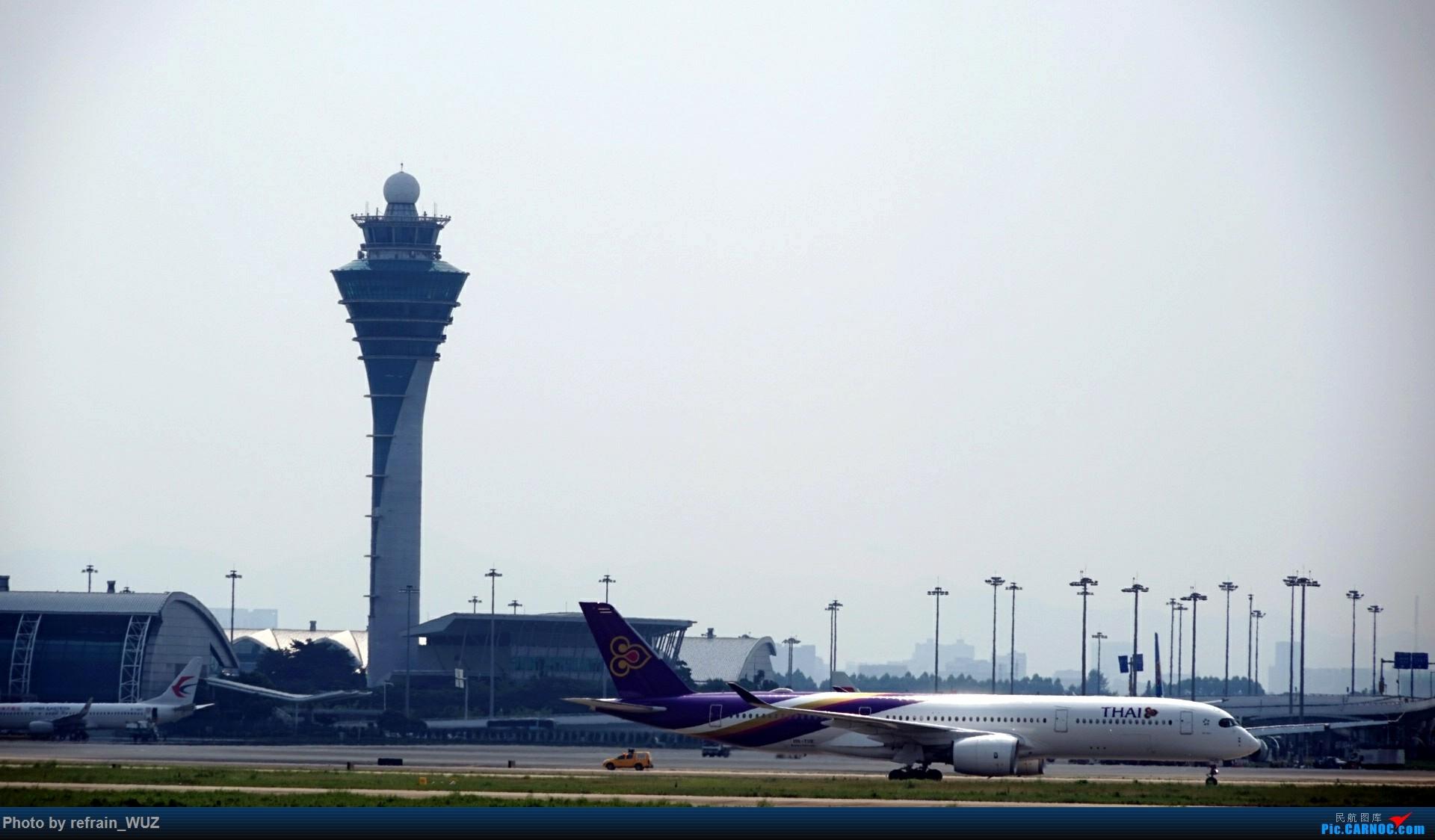 Re:[原创]CAN白云打机,全部系大嘢,最长的最粗的都有了! AIRBUS A350-900 HS-THE 中国广州白云国际机场
