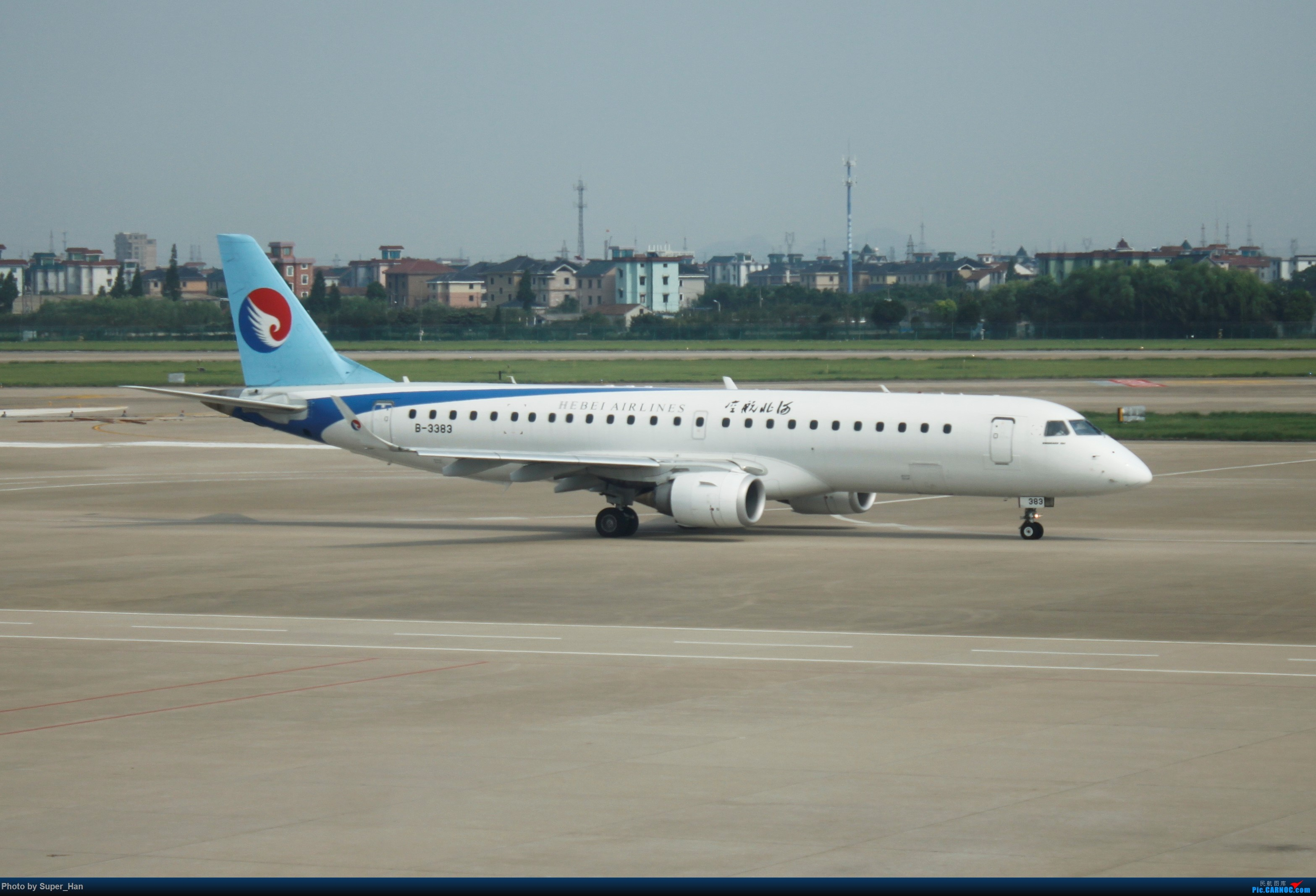 Re:[原创]HGH-SZX CAN-SHA EMBRAER E-190 B-3383 中国杭州萧山国际机场