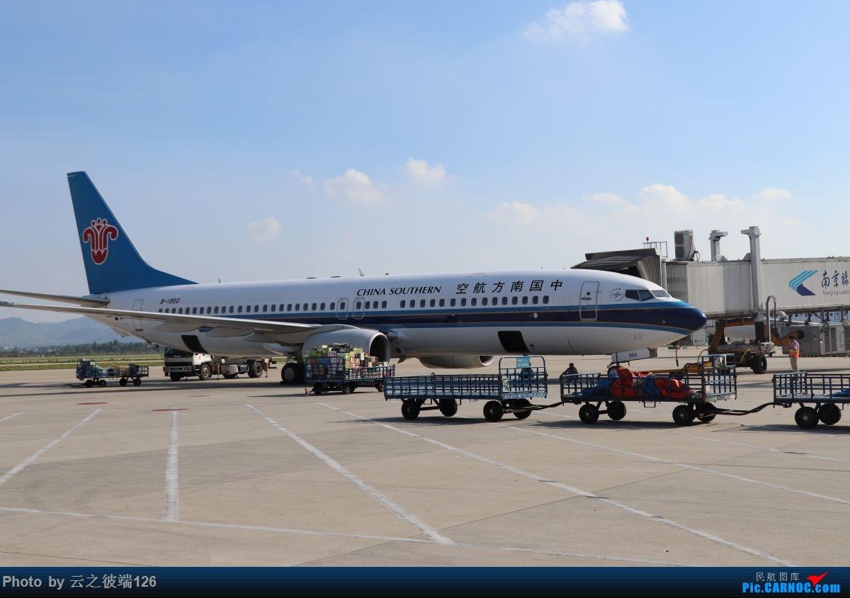 Re:[原创]-------------走进彩云之南,八天云南游,意外,再送杭州半日游--------- BOEING 737-800 B-1950 中国南京禄口国际机场