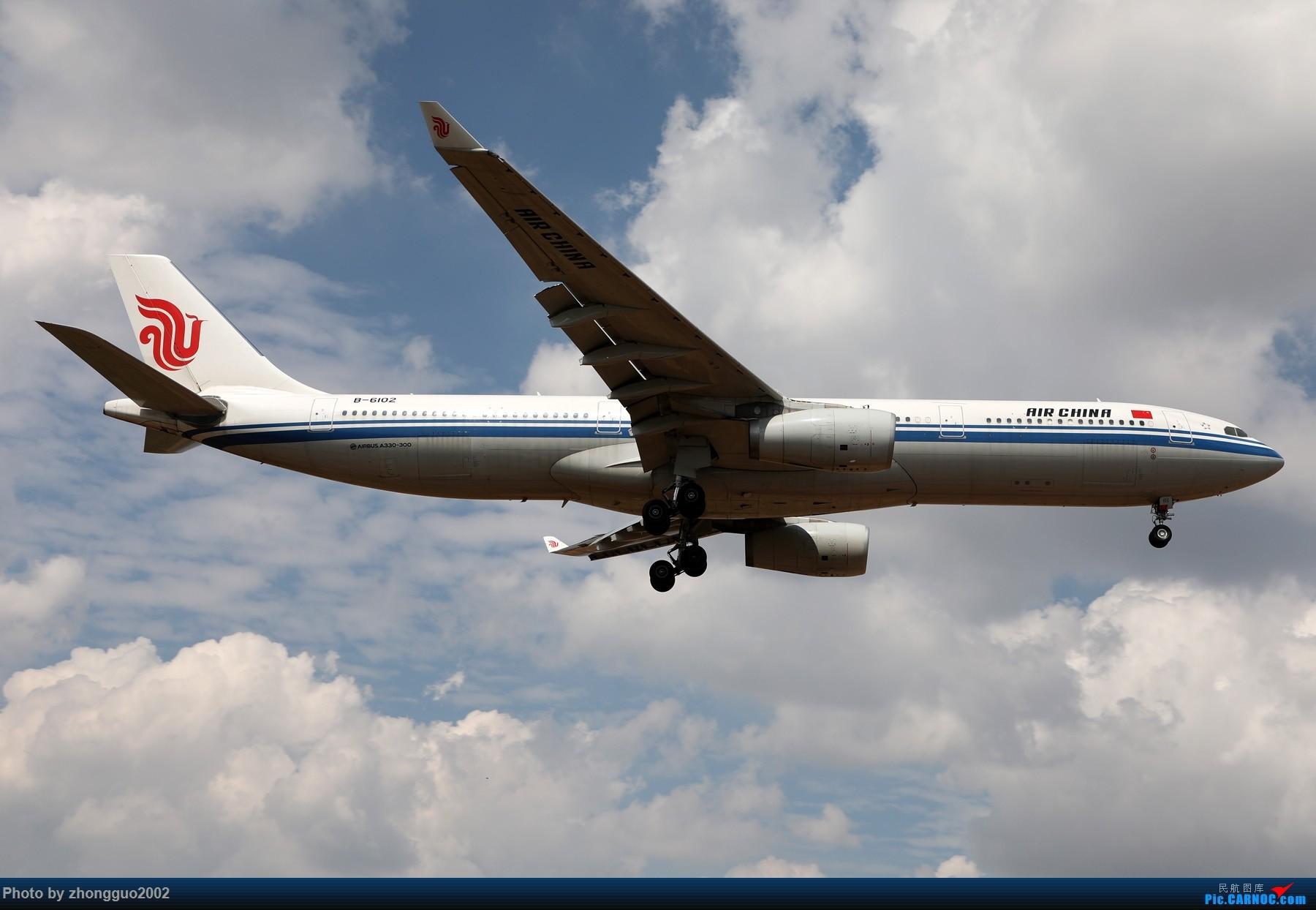 [原创]国航 333-6102 鄂尔多斯飞本场 AIRBUS A330-300 B-6102 中国鄂尔多斯伊金霍洛机场
