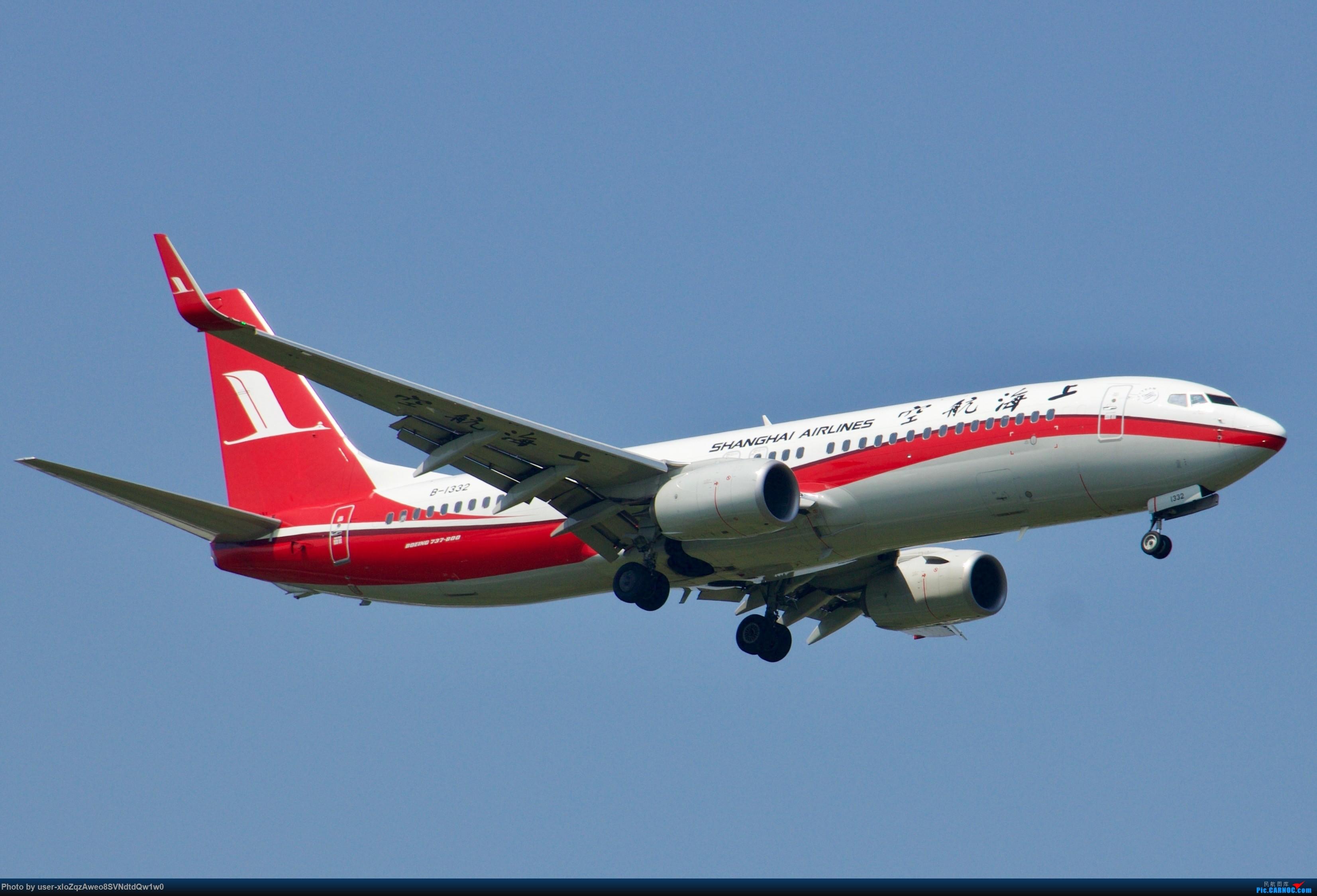 [原创]07/28 PVG拍机贴 BOEING 737-800 B-1332 上海浦东国际机场