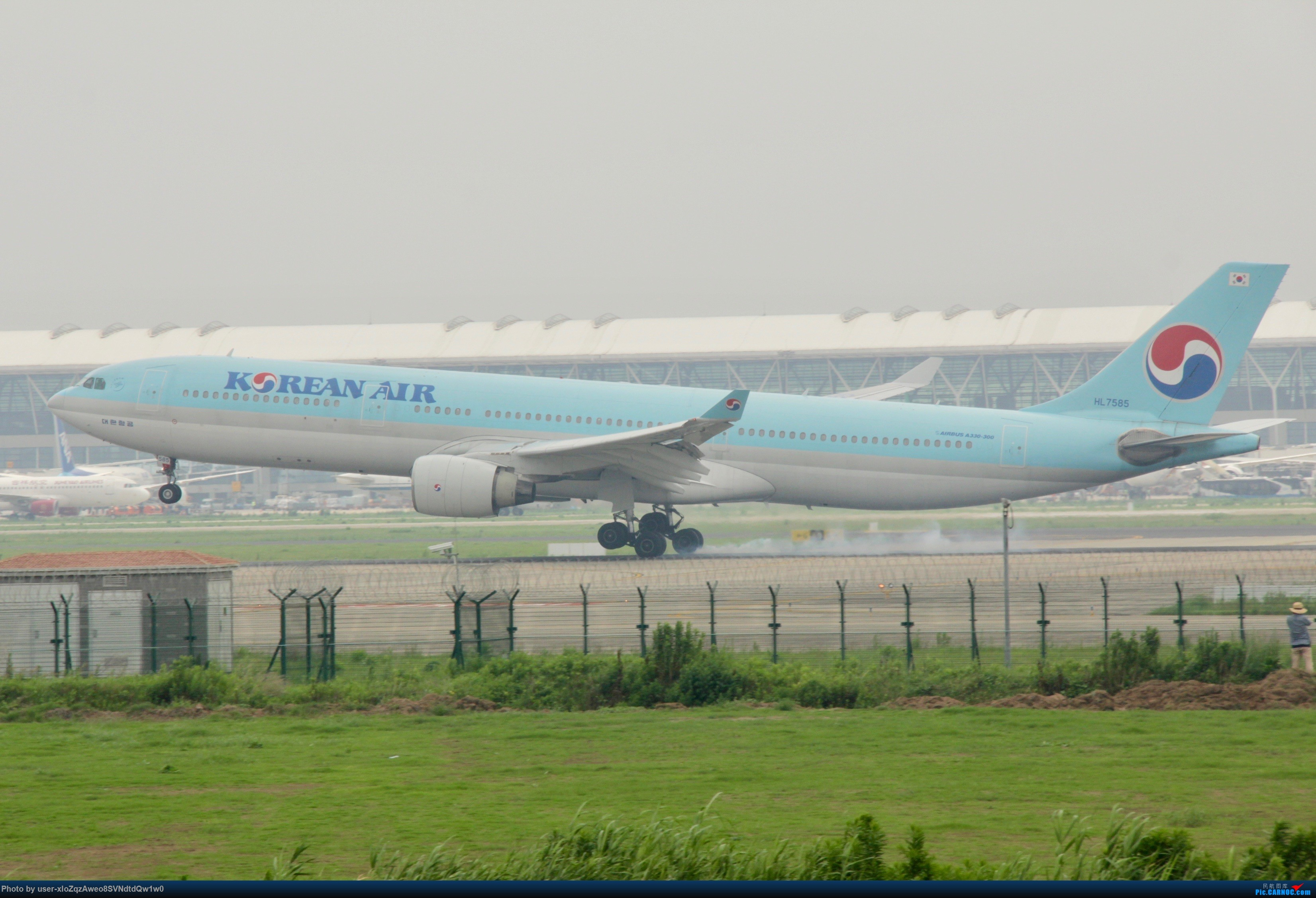Re:[原创]07/28 PVG拍机贴 AIRBUS A330-300 HL-7585 中国上海浦东国际机场