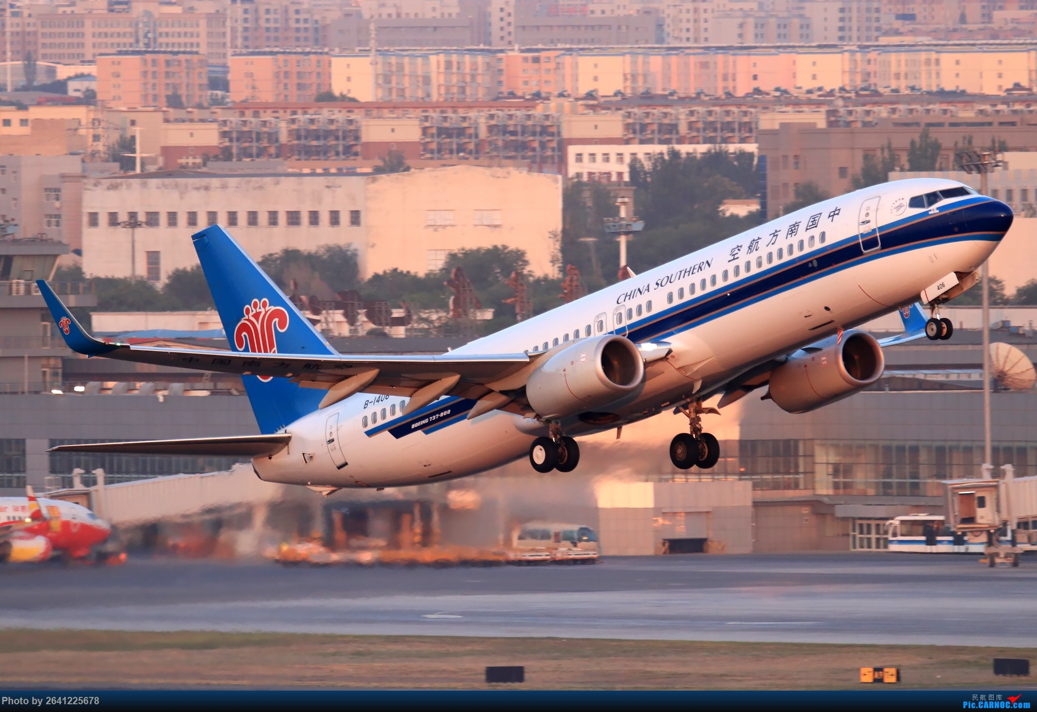 Re:[原创]【小周游记第7集拍机贴】乌鲁木齐绝美的地景和光线 BOEING 737-800 B-1406 中国乌鲁木齐地窝堡国际机场