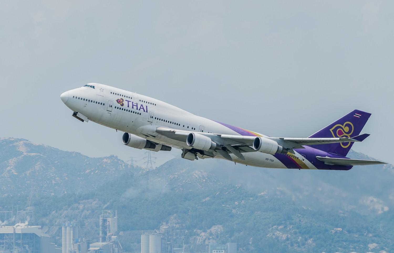 Re:[原创]波音747一组 BOEING 747-400 HS-TGO 香港赤鱲角国际机场