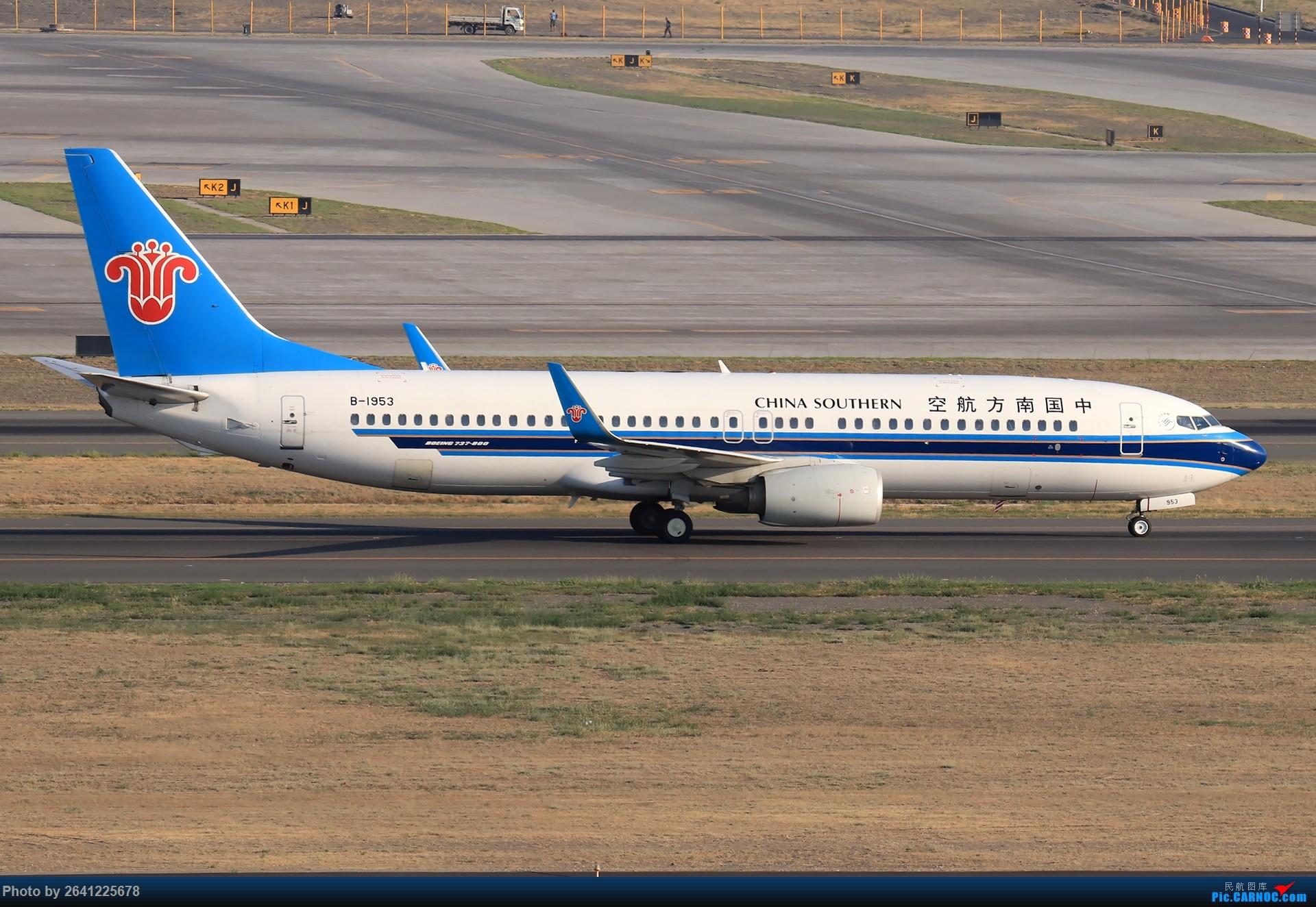 Re:[原创]【小周游记第7集拍机贴】乌鲁木齐绝美的地景和光线 BOEING 737-800 B-1953 中国乌鲁木齐地窝堡国际机场