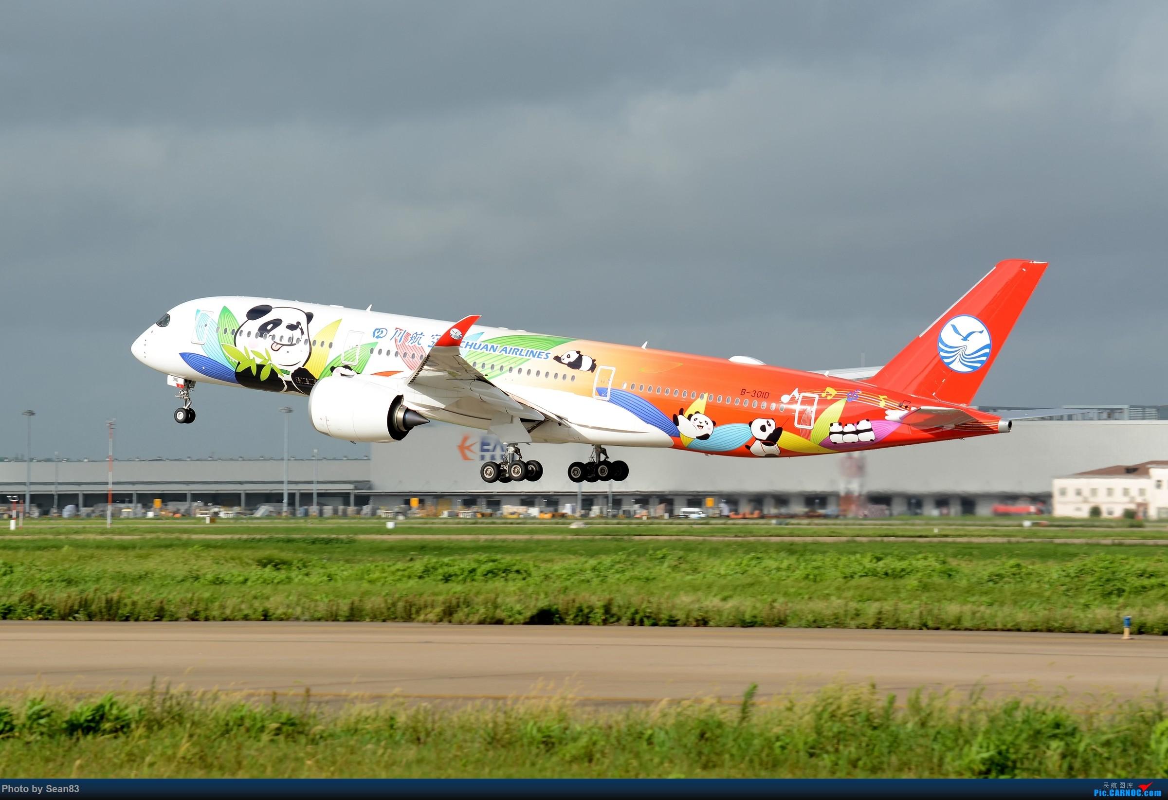 (PVG)数熊猫 AIRBUS A350-900 B-301D 中国上海浦东国际机场